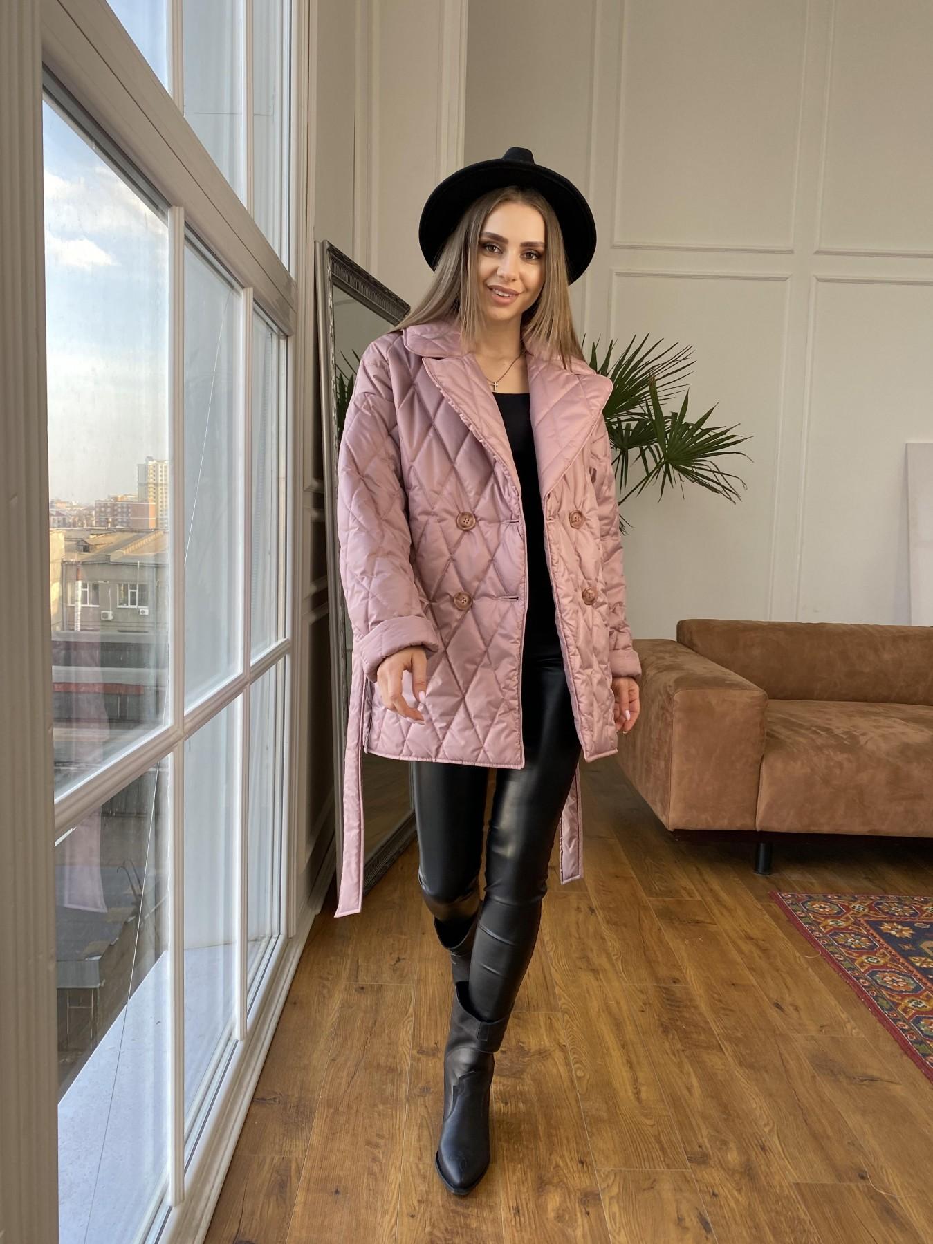 Норд куртка из плащевой ткани стеганая 10883 АРТ. 47465 Цвет: Пудра - фото 6, интернет магазин tm-modus.ru