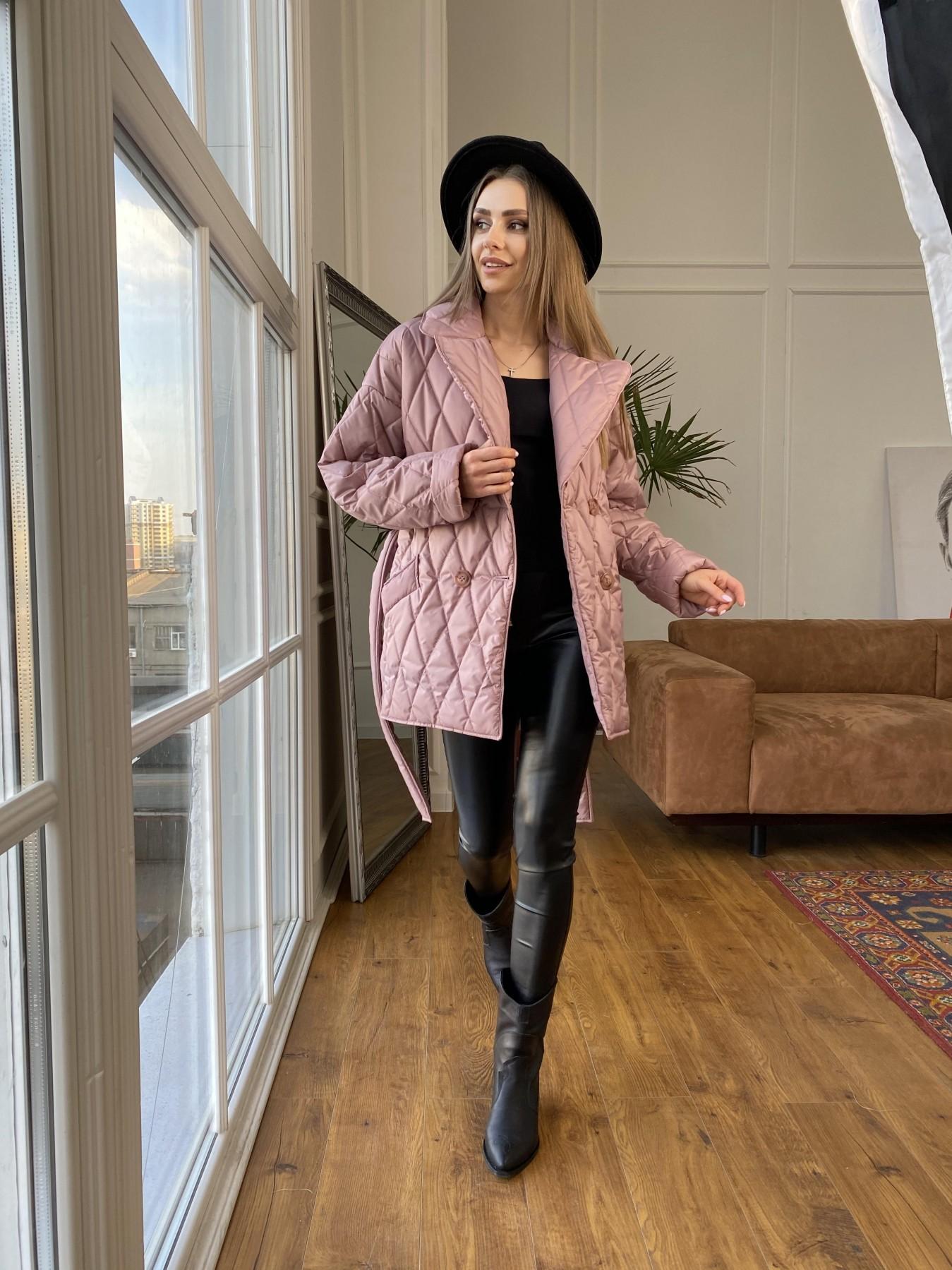 Норд куртка из плащевой ткани стеганая 10883 АРТ. 47465 Цвет: Пудра - фото 7, интернет магазин tm-modus.ru