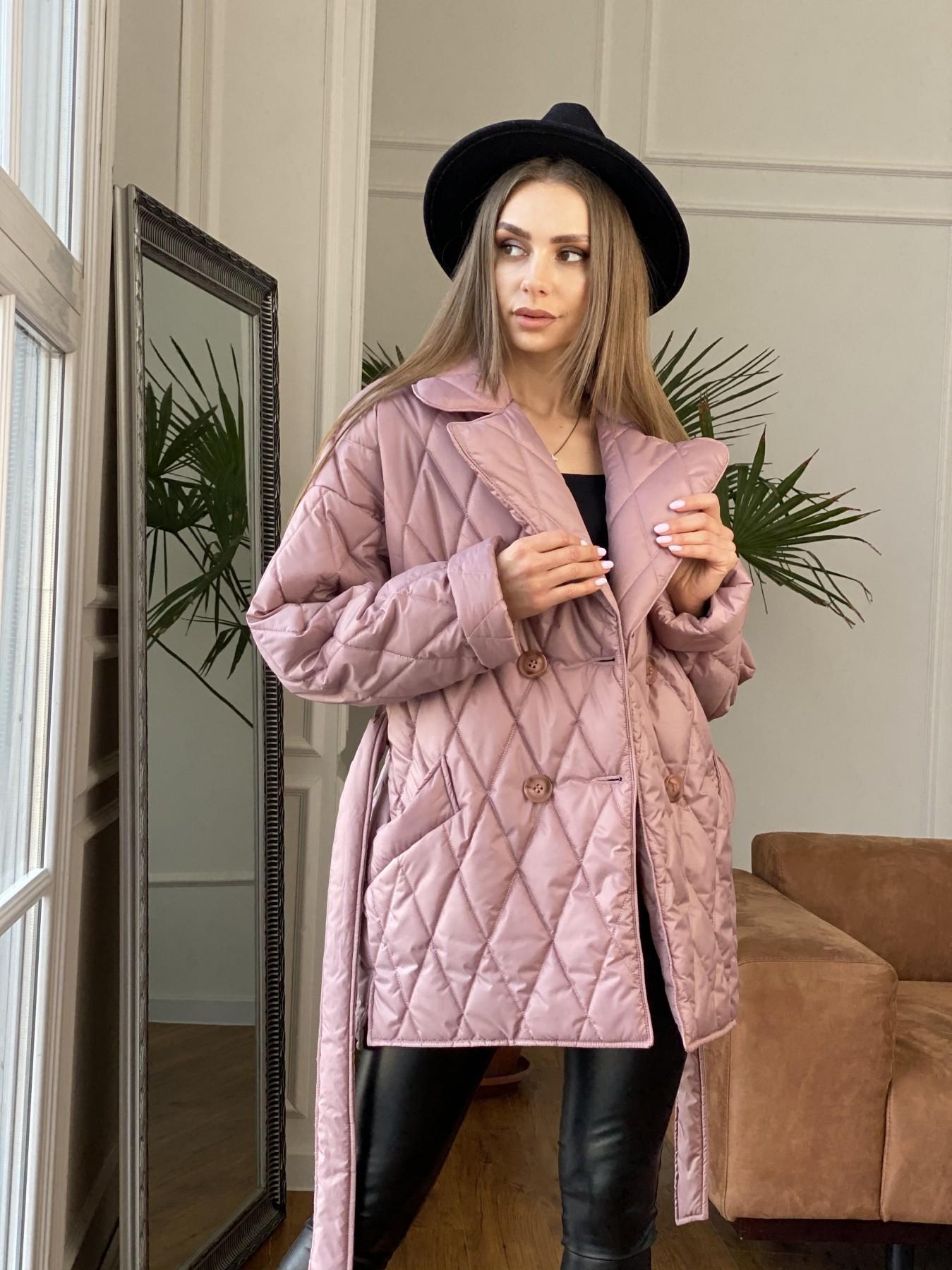 Норд куртка из плащевой ткани стеганая 10883 АРТ. 47465 Цвет: Пудра - фото 9, интернет магазин tm-modus.ru