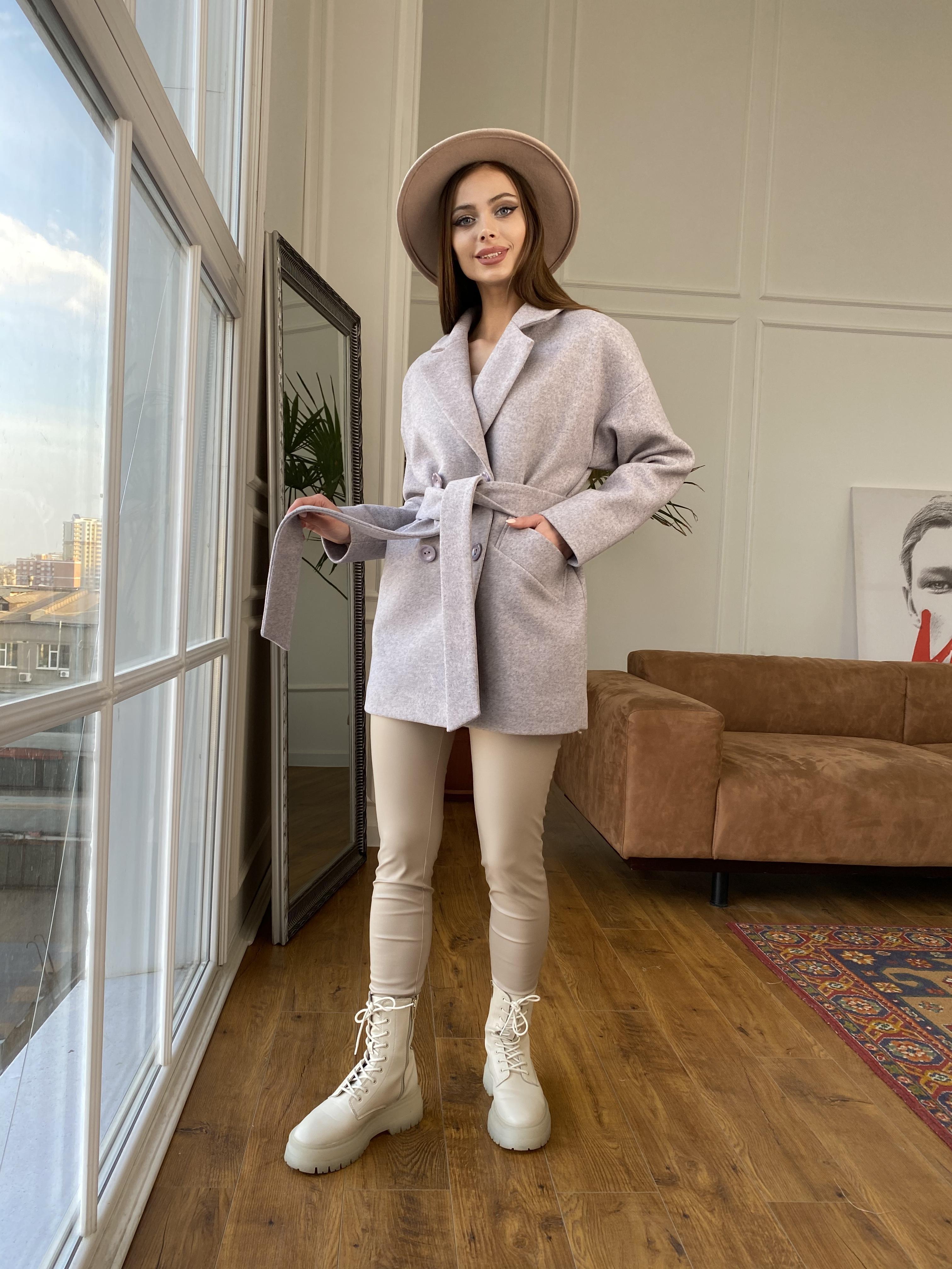 Бонд пальто  кашемировое меланж на трикотаже  10644 АРТ. 47177 Цвет: Серо-розовый - фото 11, интернет магазин tm-modus.ru