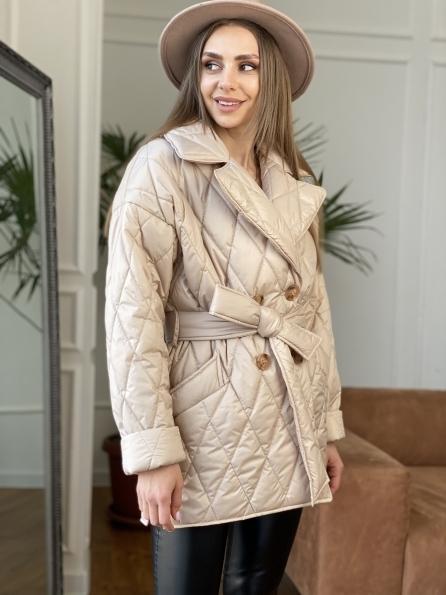 """Купить """"Норд"""" стеганая куртка из плащевой ткани 10883 оптом и в розницу"""