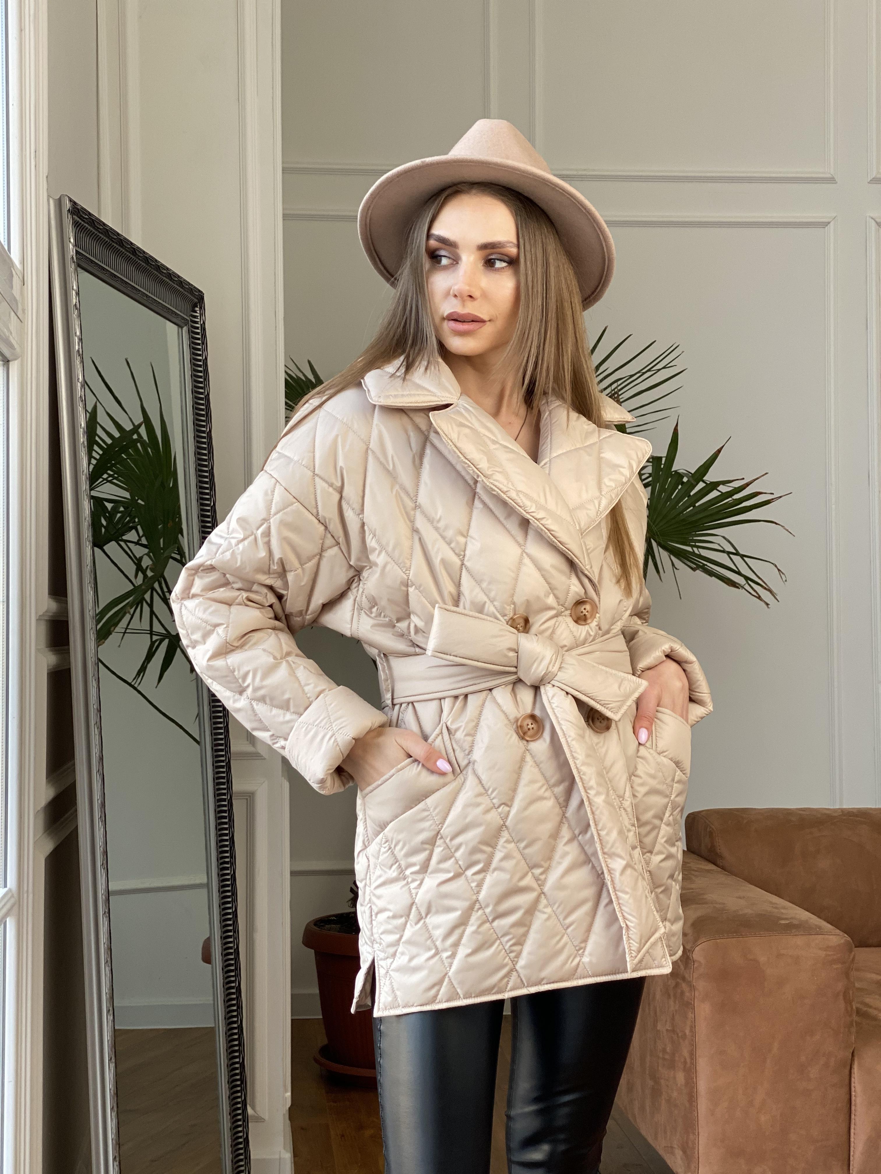 Норд куртка из плащевой ткани стеганая 10883 АРТ. 47411 Цвет: Бежевый - фото 5, интернет магазин tm-modus.ru