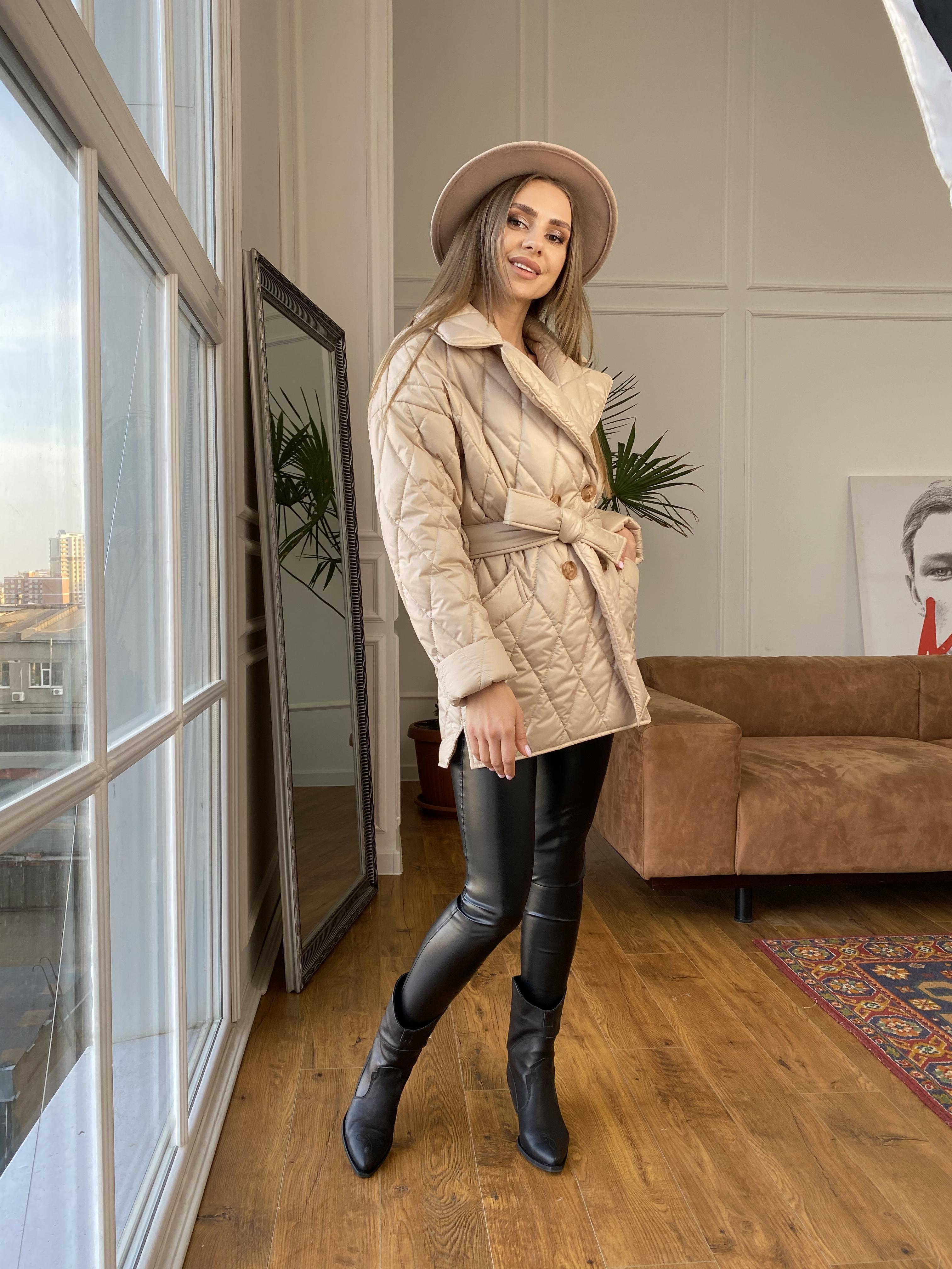 Норд куртка из плащевой ткани стеганая 10883 АРТ. 47411 Цвет: Бежевый - фото 6, интернет магазин tm-modus.ru