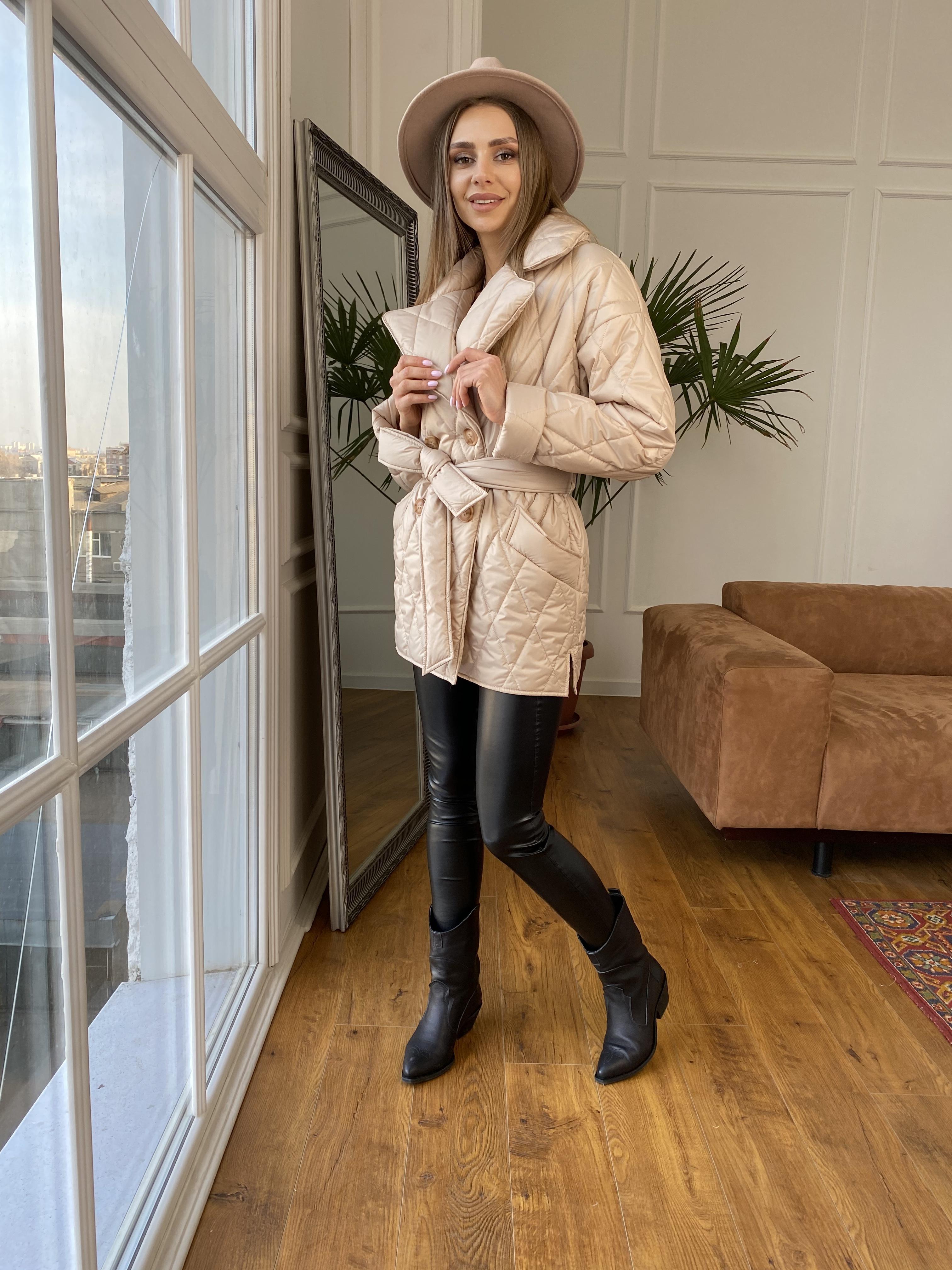 Норд куртка из плащевой ткани стеганая 10883 АРТ. 47411 Цвет: Бежевый - фото 7, интернет магазин tm-modus.ru