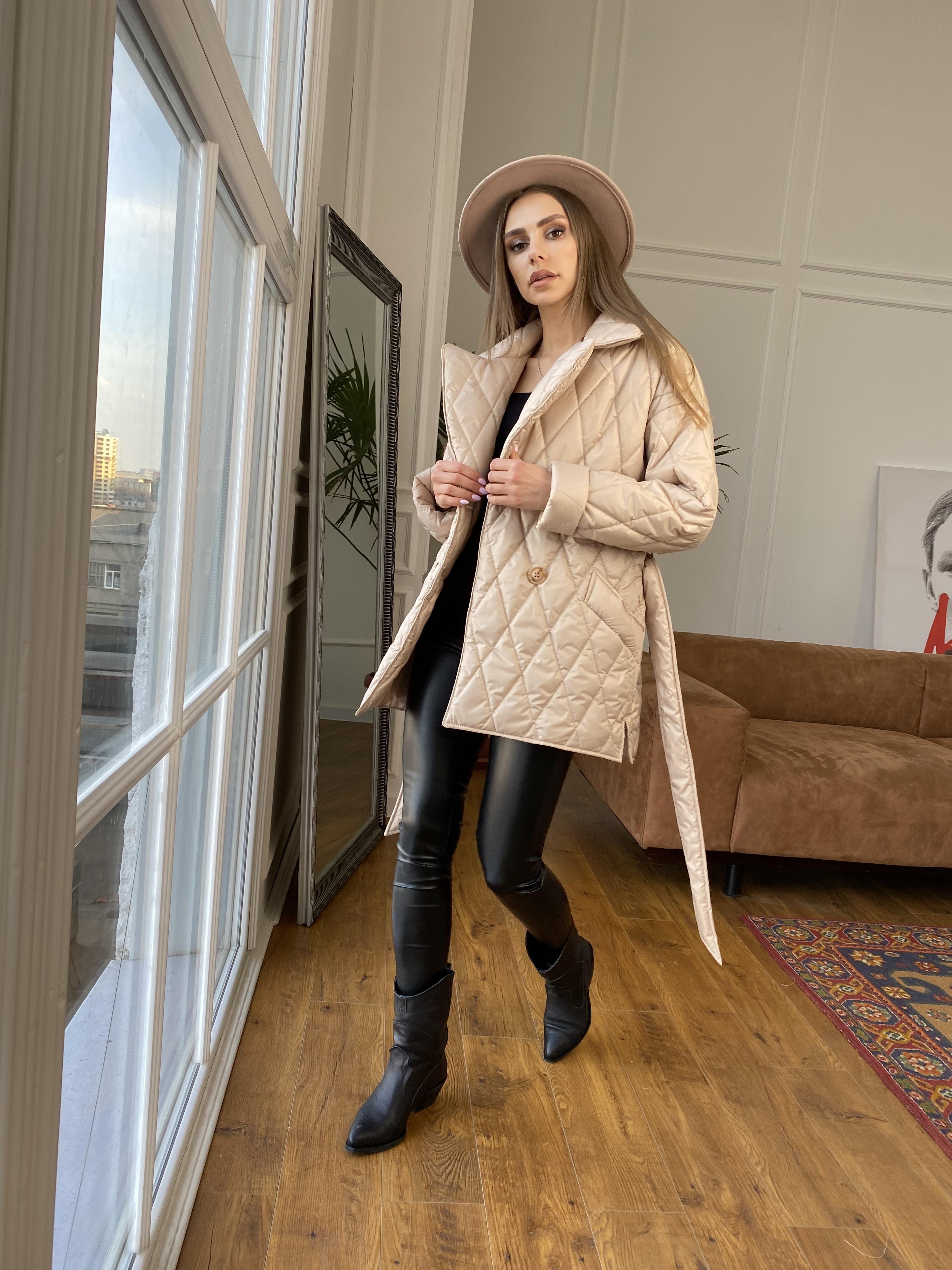 Норд куртка из плащевой ткани стеганая 10883 АРТ. 47411 Цвет: Бежевый - фото 8, интернет магазин tm-modus.ru