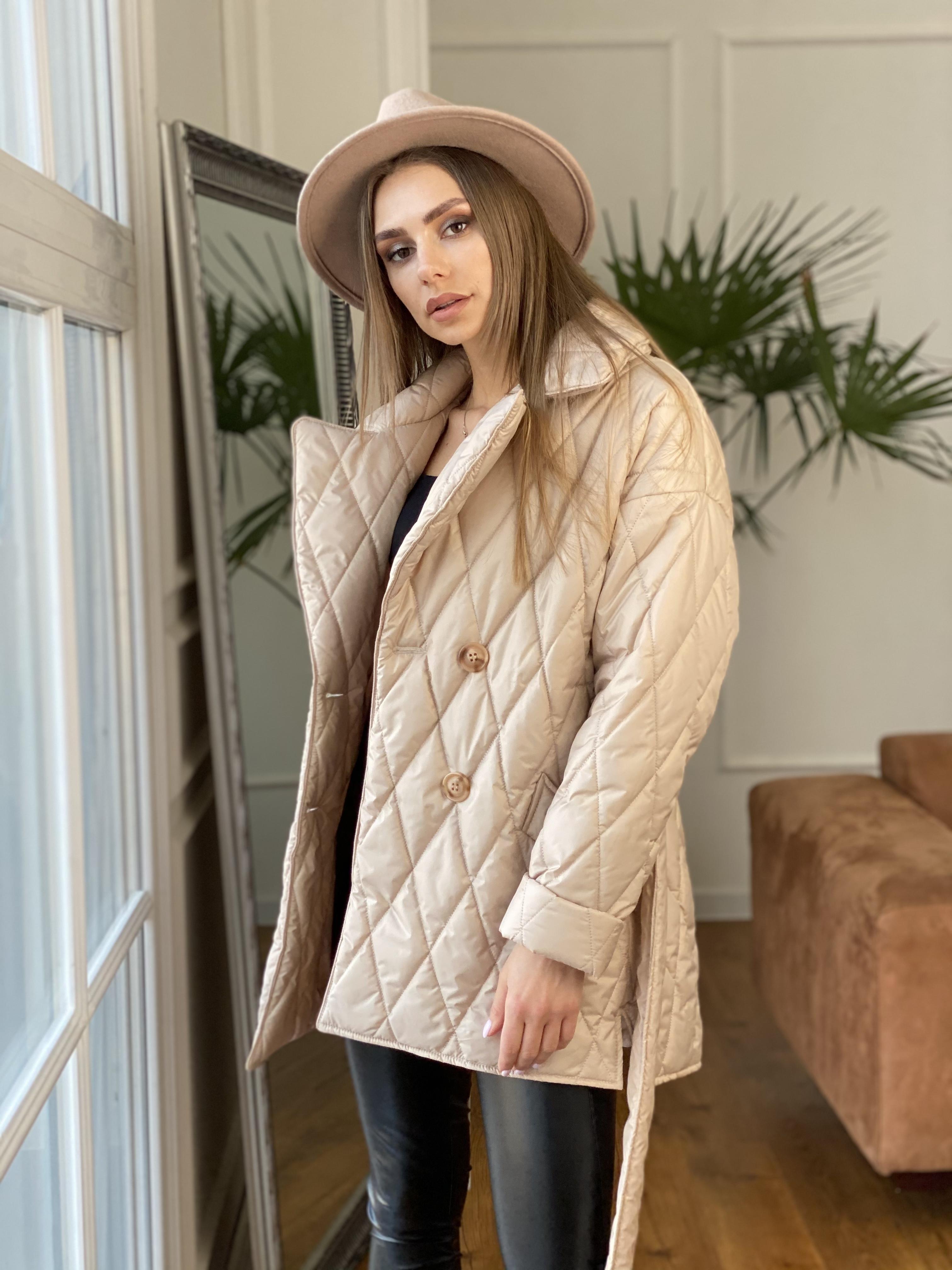 Норд куртка из плащевой ткани стеганая 10883 АРТ. 47411 Цвет: Бежевый - фото 11, интернет магазин tm-modus.ru