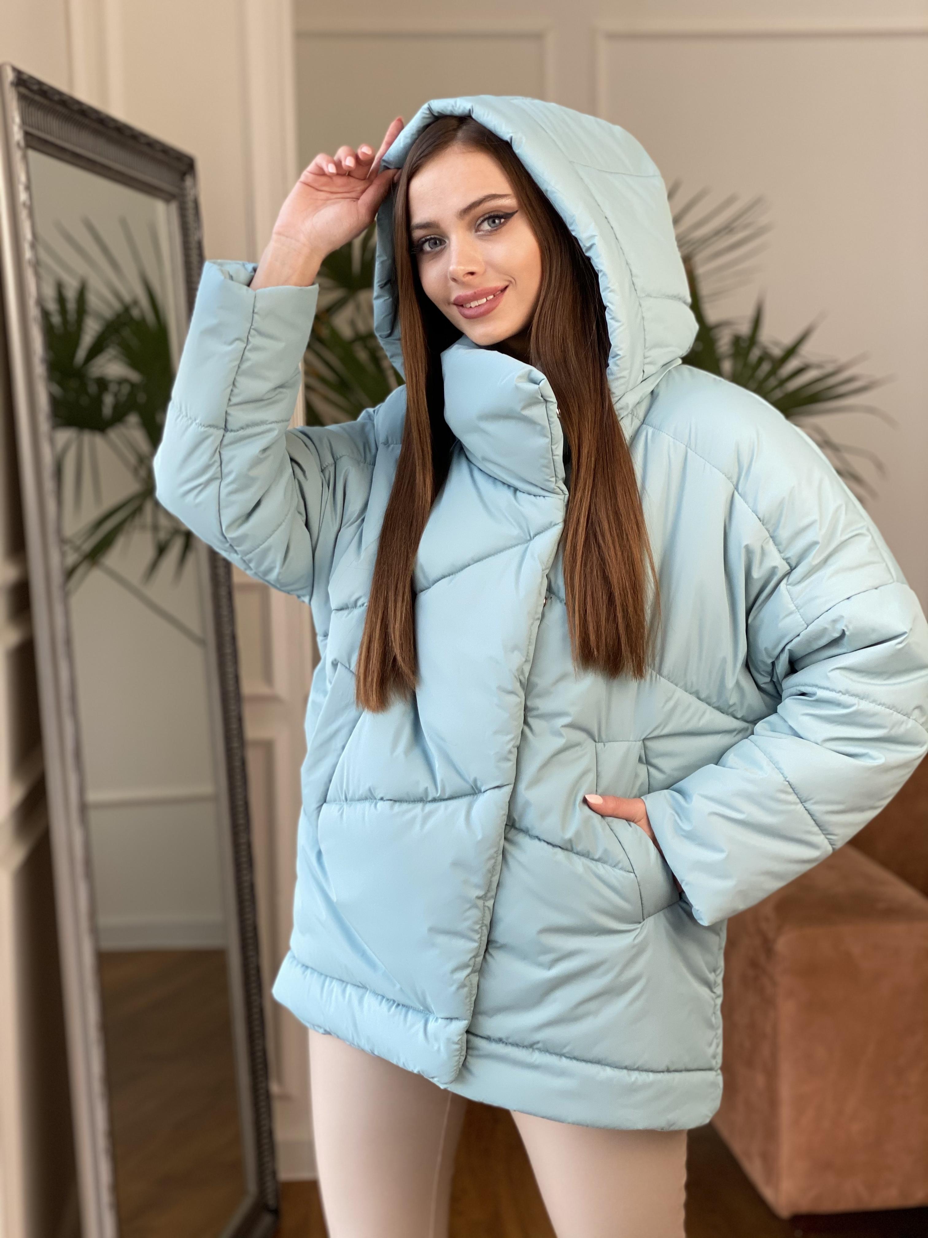Уно куртка плащевка Ammy 10671 АРТ. 47079 Цвет: Олива - фото 5, интернет магазин tm-modus.ru
