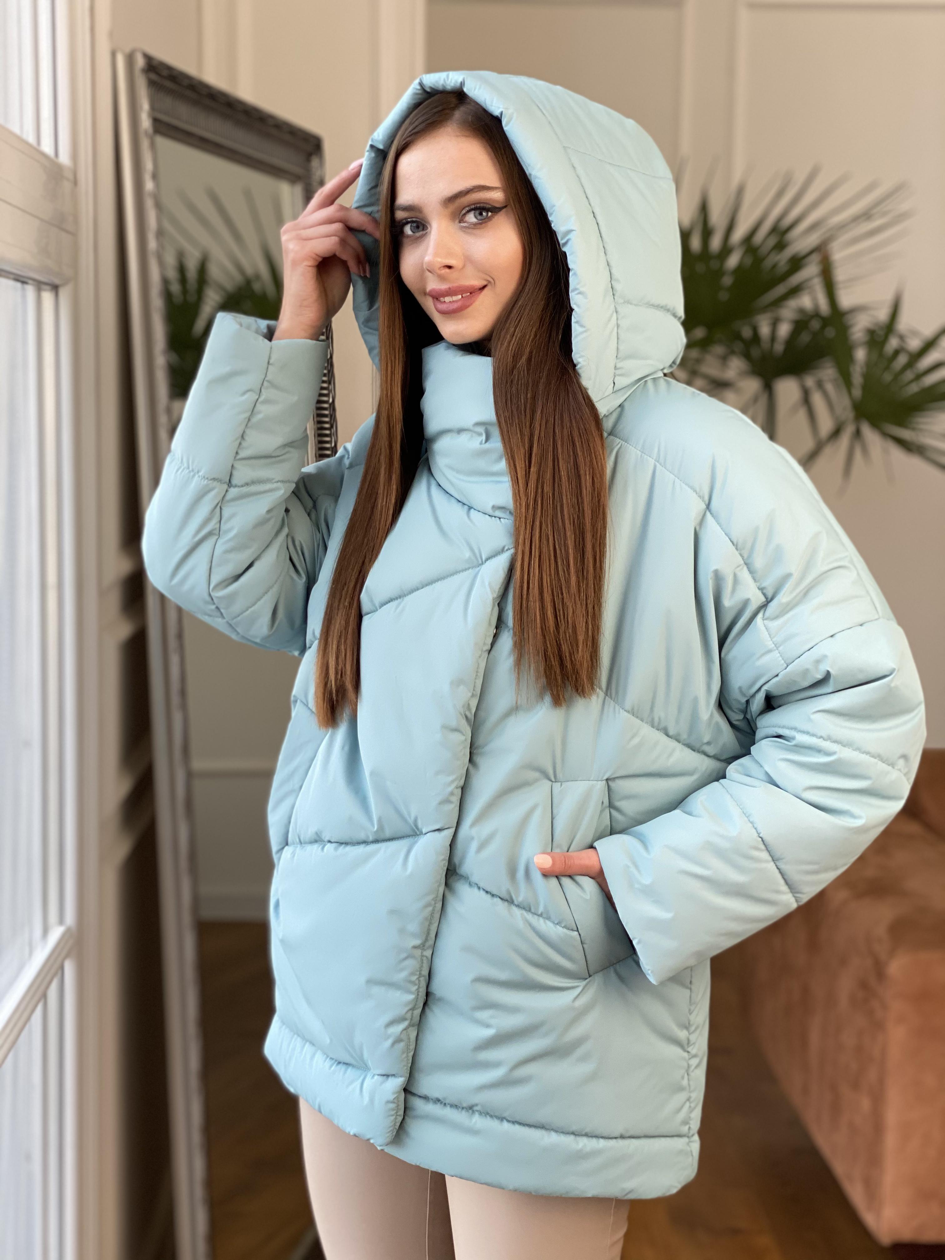 Уно куртка плащевка Ammy 10671 АРТ. 47079 Цвет: Олива - фото 8, интернет магазин tm-modus.ru
