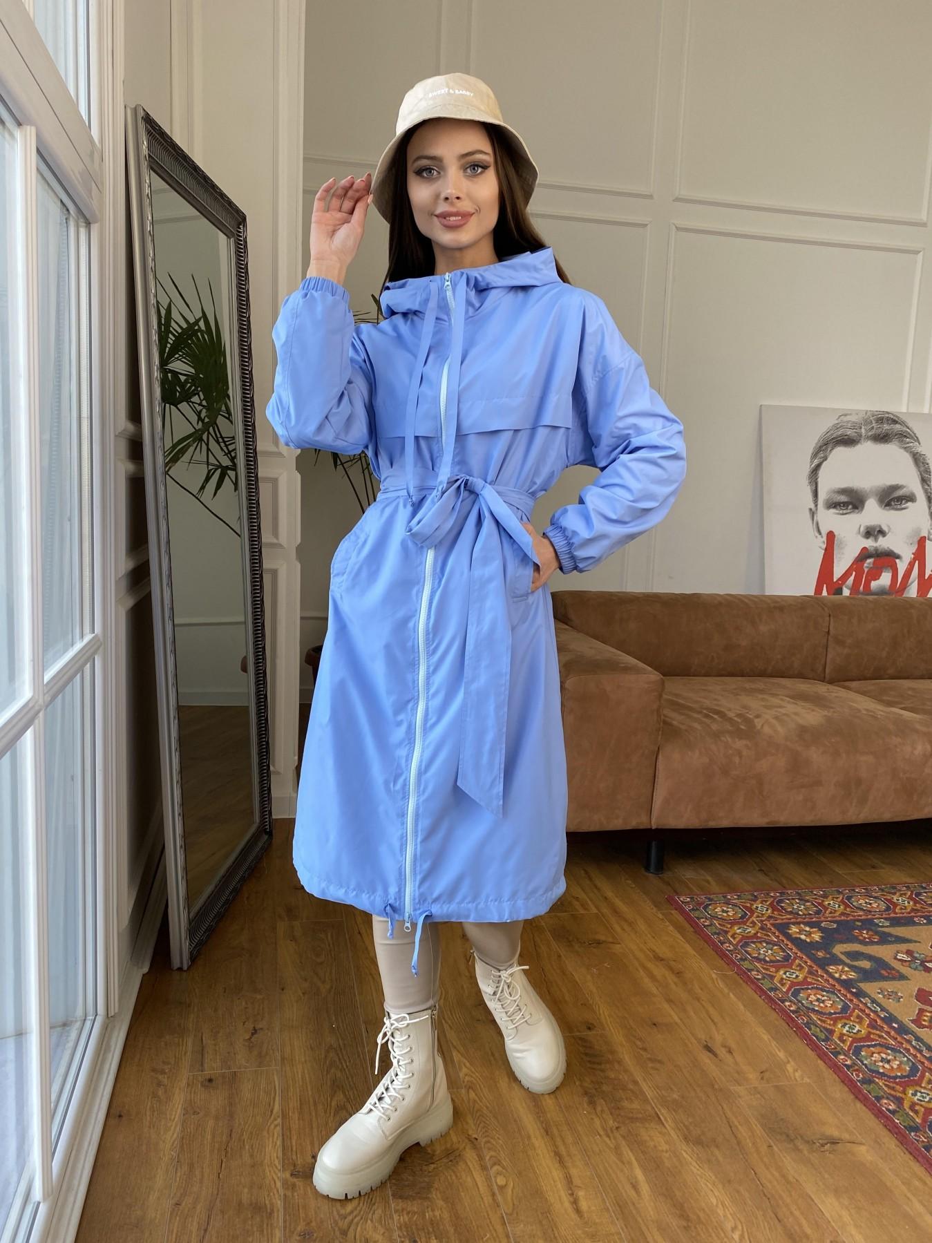 Микси ветровка из плащевки Ammy 11095 АРТ. 47606 Цвет: Голубой - фото 7, интернет магазин tm-modus.ru