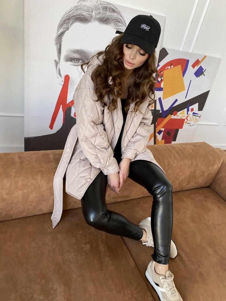 Пазл стеганая куртка из плащевки 10890 Цвет: Кофе