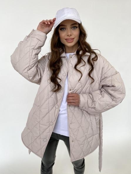 """Купить """"Моно"""" куртка из плащевой ткани Ammy 10972 оптом и в розницу"""