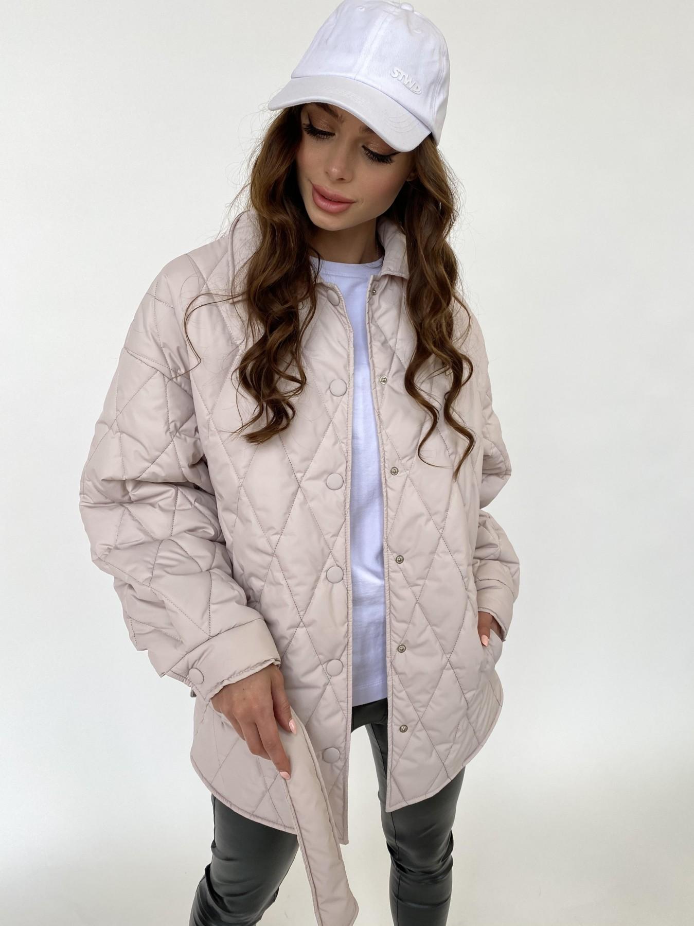 Моно куртка из плащевой ткани Ammy 10972 АРТ. 47515 Цвет: Бежевый 970 - фото 3, интернет магазин tm-modus.ru