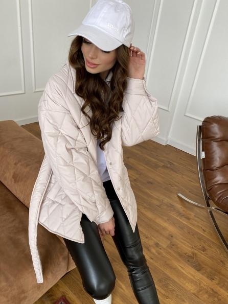 Моно куртка из плащевой ткани Ammy 10972 Цвет: Бежевый 970