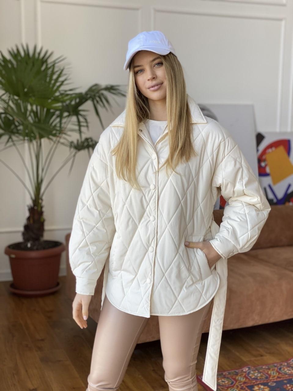 женские куртки оптом Монокуртка из плащевой ткани Ammy 10972