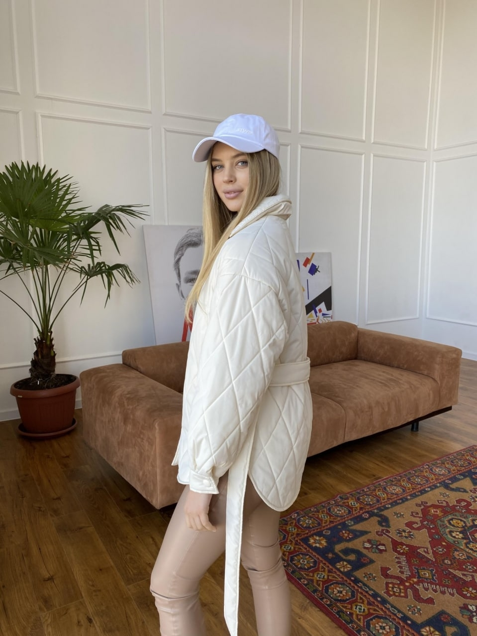 Монокуртка из плащевой ткани Ammy 10972 АРТ. 47632 Цвет: Молоко 1 - фото 6, интернет магазин tm-modus.ru