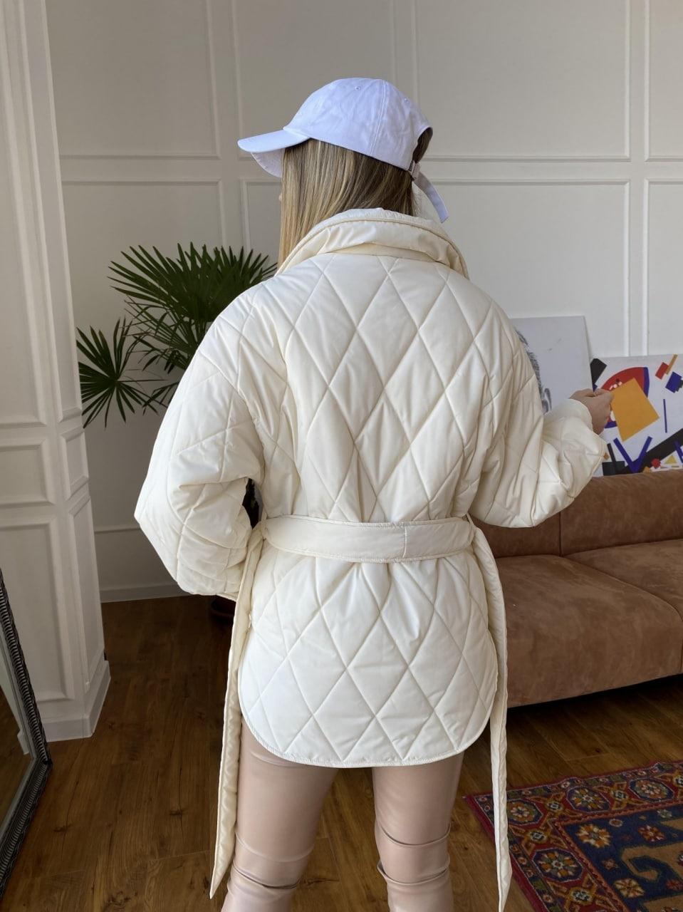 Монокуртка из плащевой ткани Ammy 10972 АРТ. 47632 Цвет: Молоко 1 - фото 7, интернет магазин tm-modus.ru