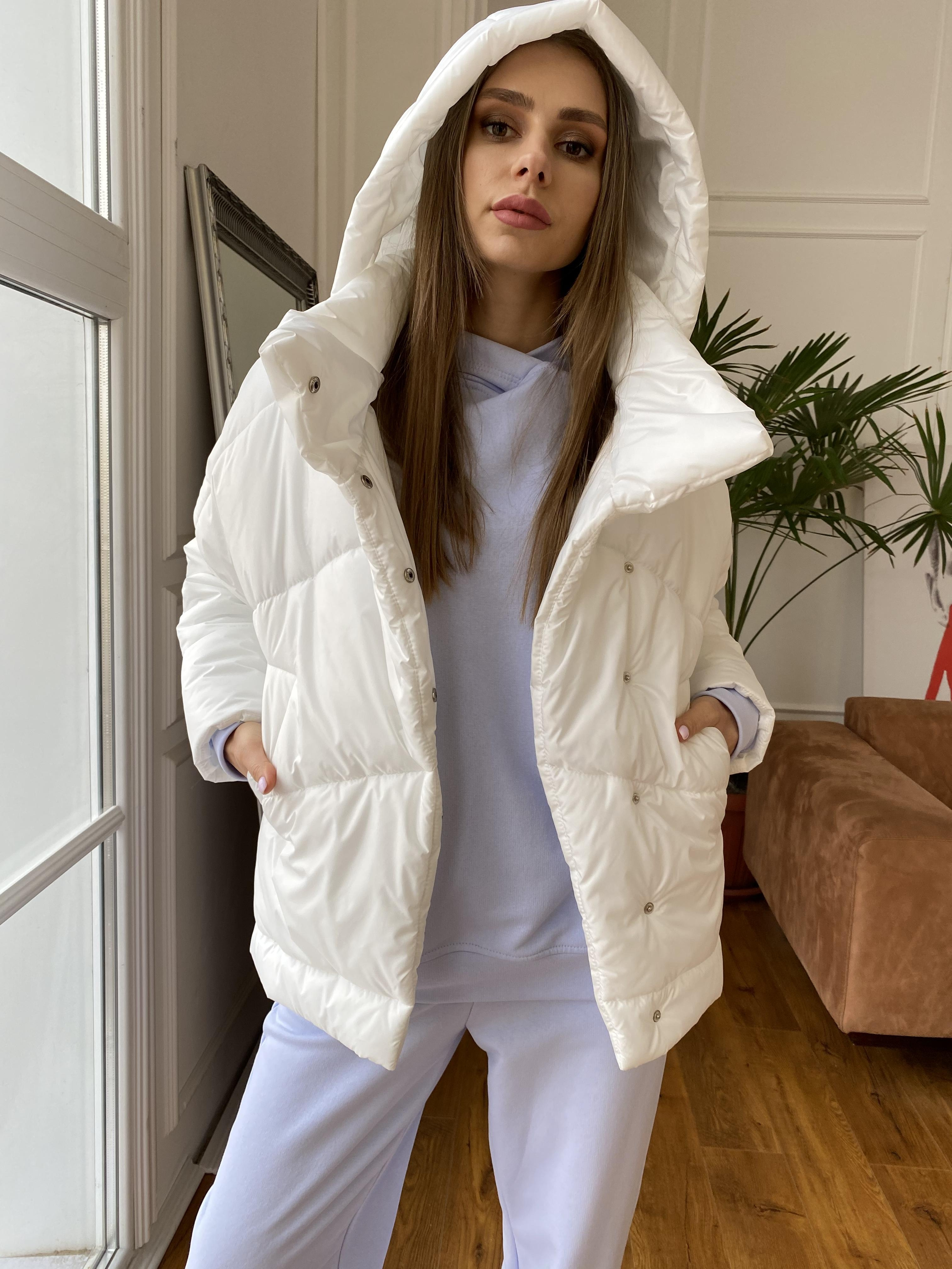 Уно куртка плащевка Ammy 10671 АРТ. 47395 Цвет: Молоко - фото 1, интернет магазин tm-modus.ru