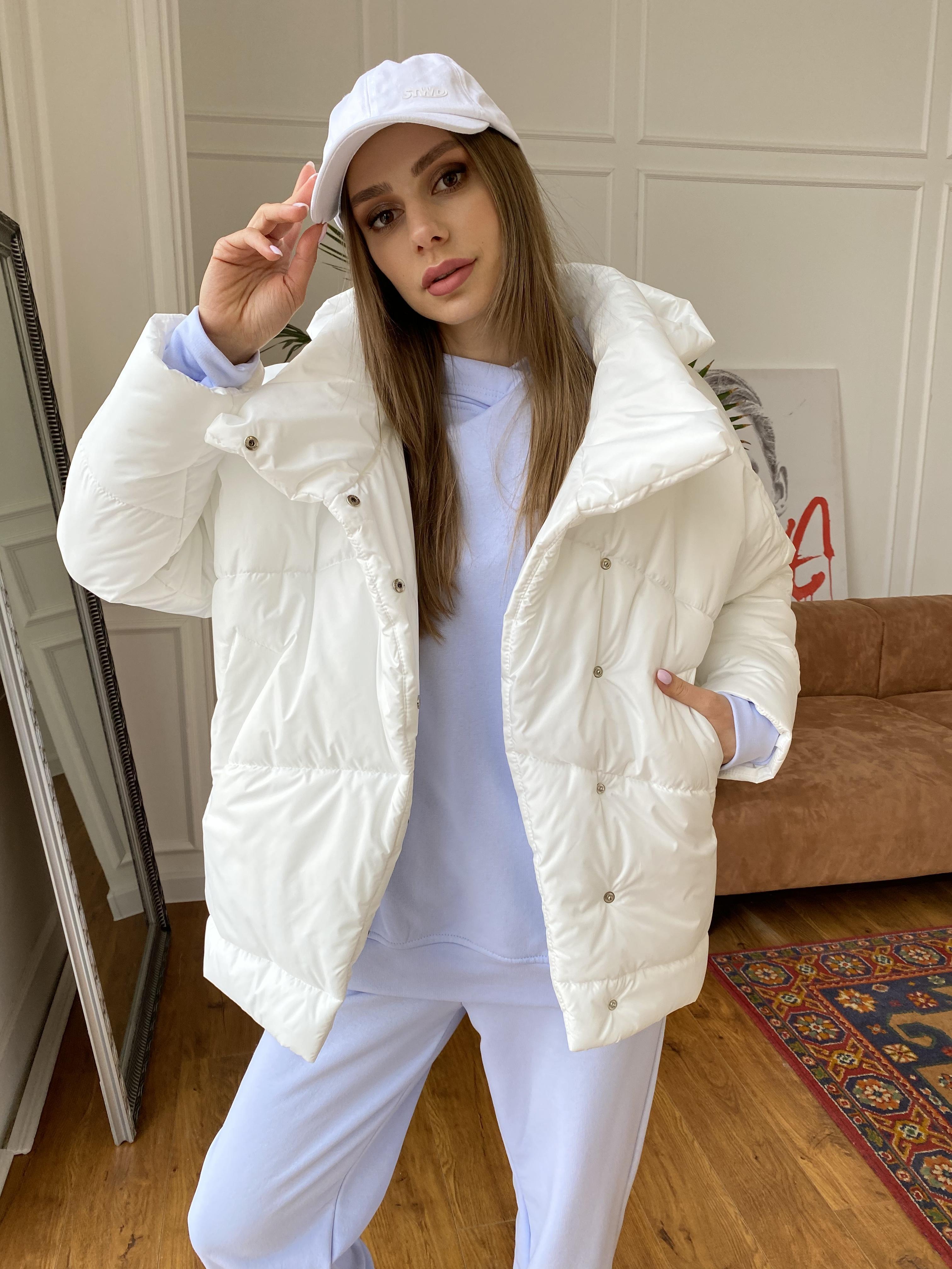 Уно куртка плащевка Ammy 10671 АРТ. 47395 Цвет: Молоко - фото 2, интернет магазин tm-modus.ru