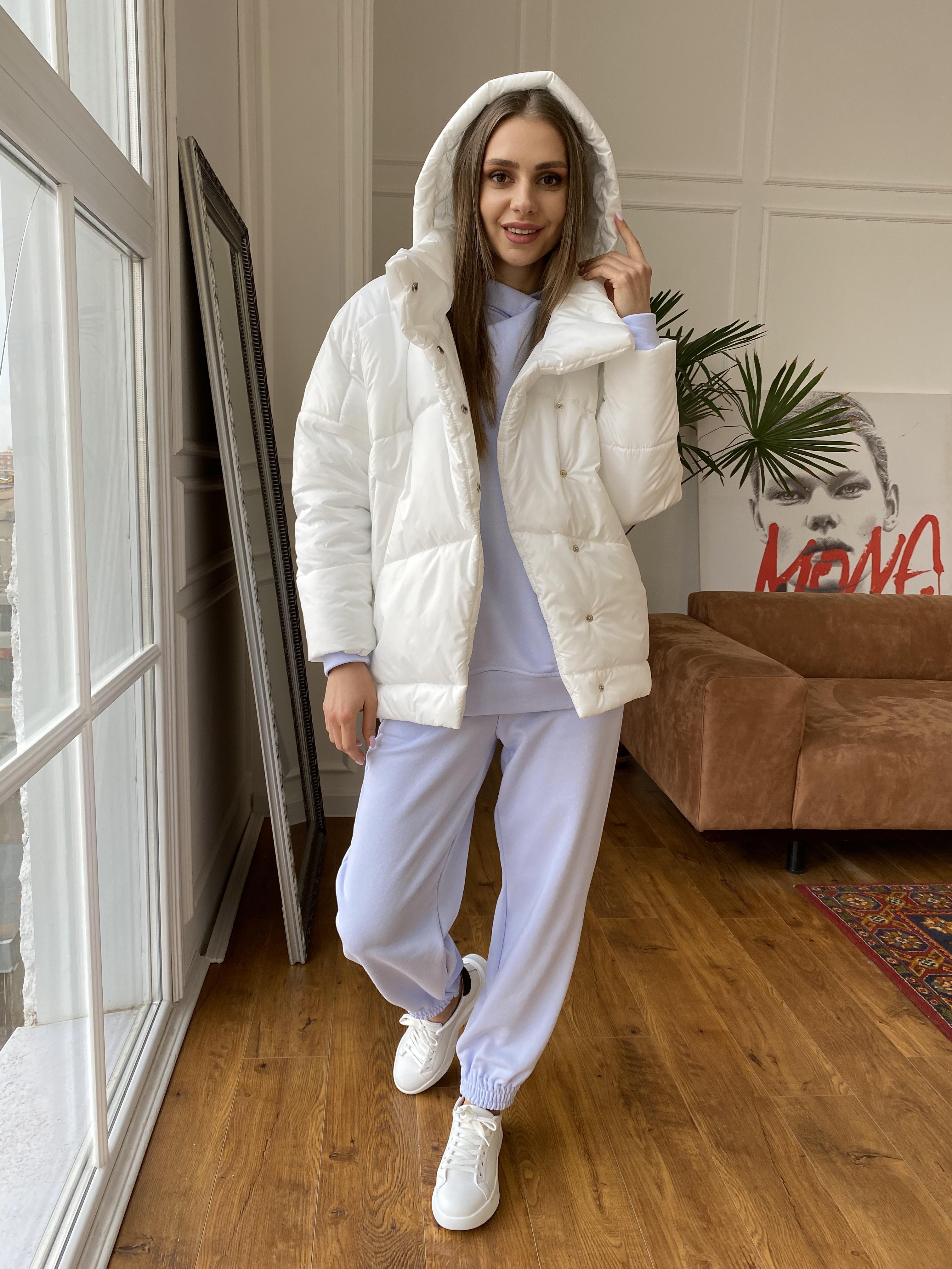 Уно куртка плащевка Ammy 10671 АРТ. 47395 Цвет: Молоко - фото 3, интернет магазин tm-modus.ru
