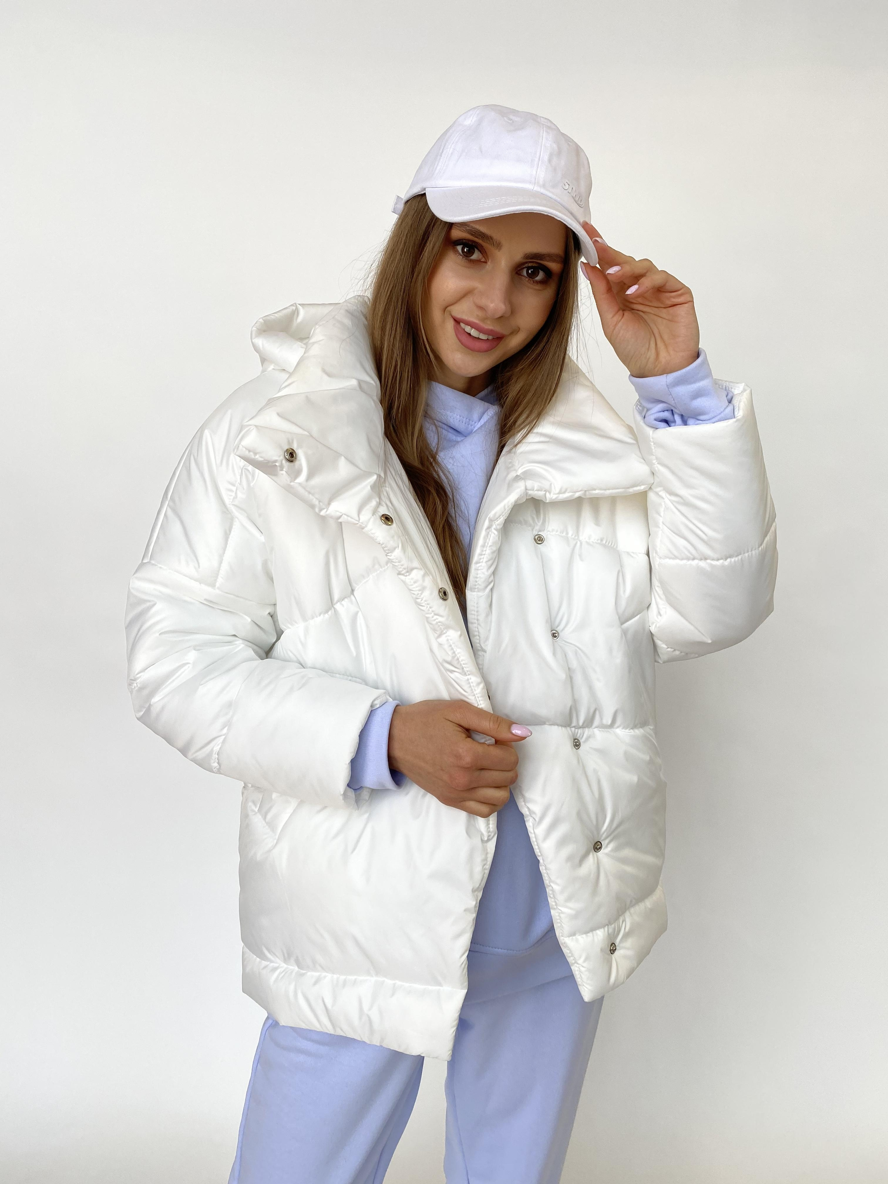 Уно куртка плащевка Ammy 10671 АРТ. 47395 Цвет: Молоко - фото 5, интернет магазин tm-modus.ru