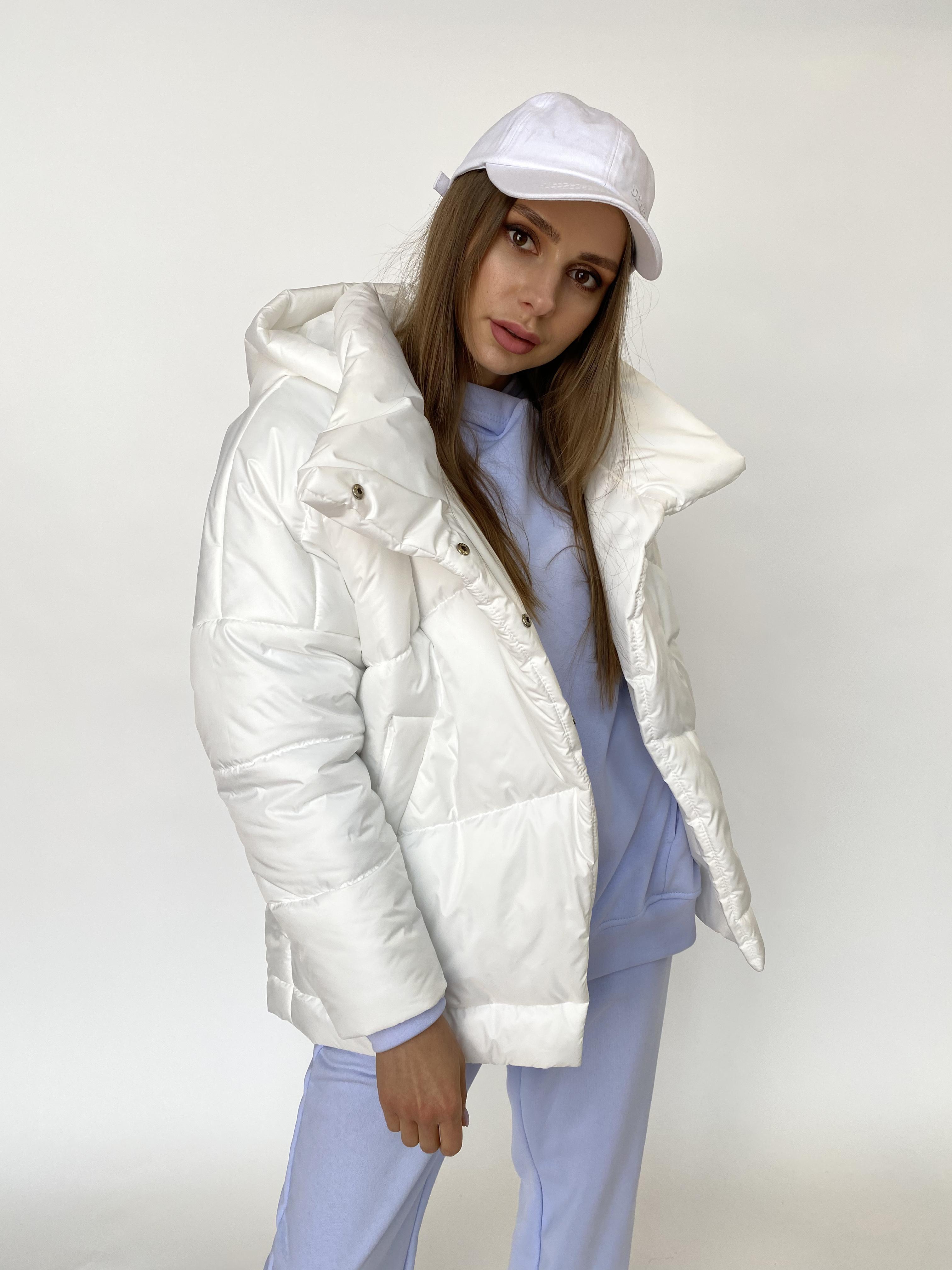 Уно куртка плащевка Ammy 10671 АРТ. 47395 Цвет: Молоко - фото 6, интернет магазин tm-modus.ru