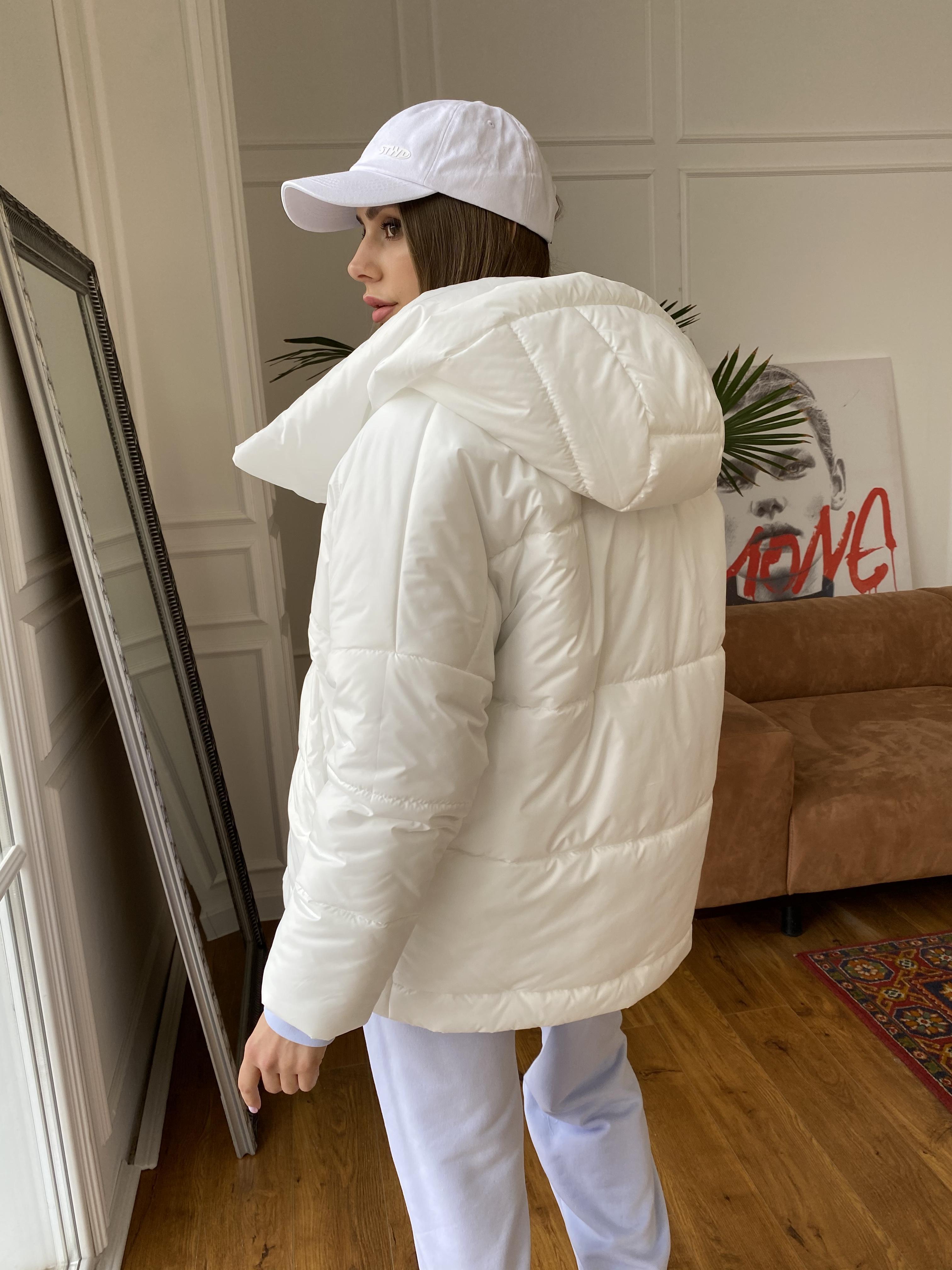Уно куртка плащевка Ammy 10671 АРТ. 47395 Цвет: Молоко - фото 7, интернет магазин tm-modus.ru