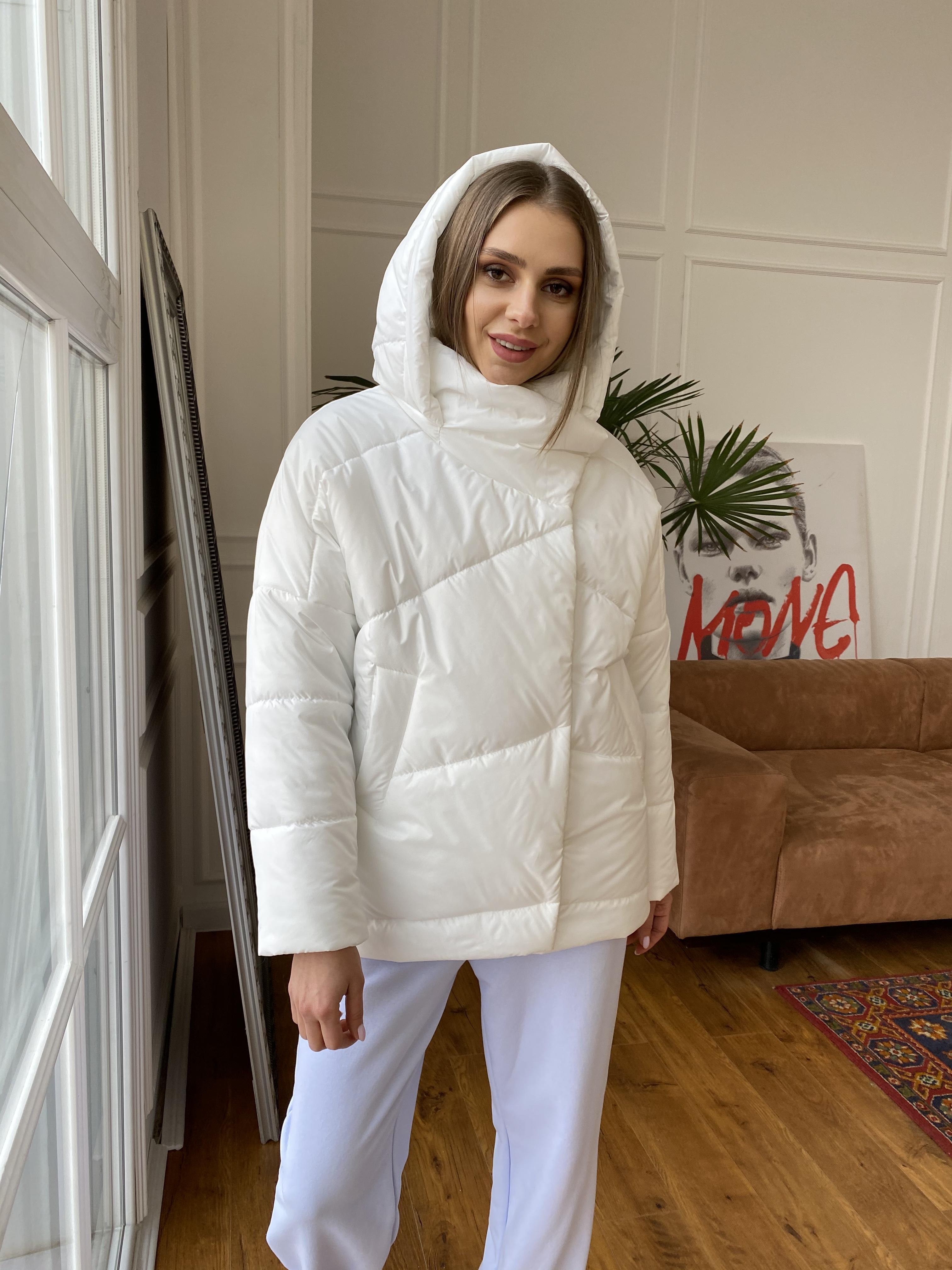 Уно куртка плащевка Ammy 10671 АРТ. 47395 Цвет: Молоко - фото 8, интернет магазин tm-modus.ru