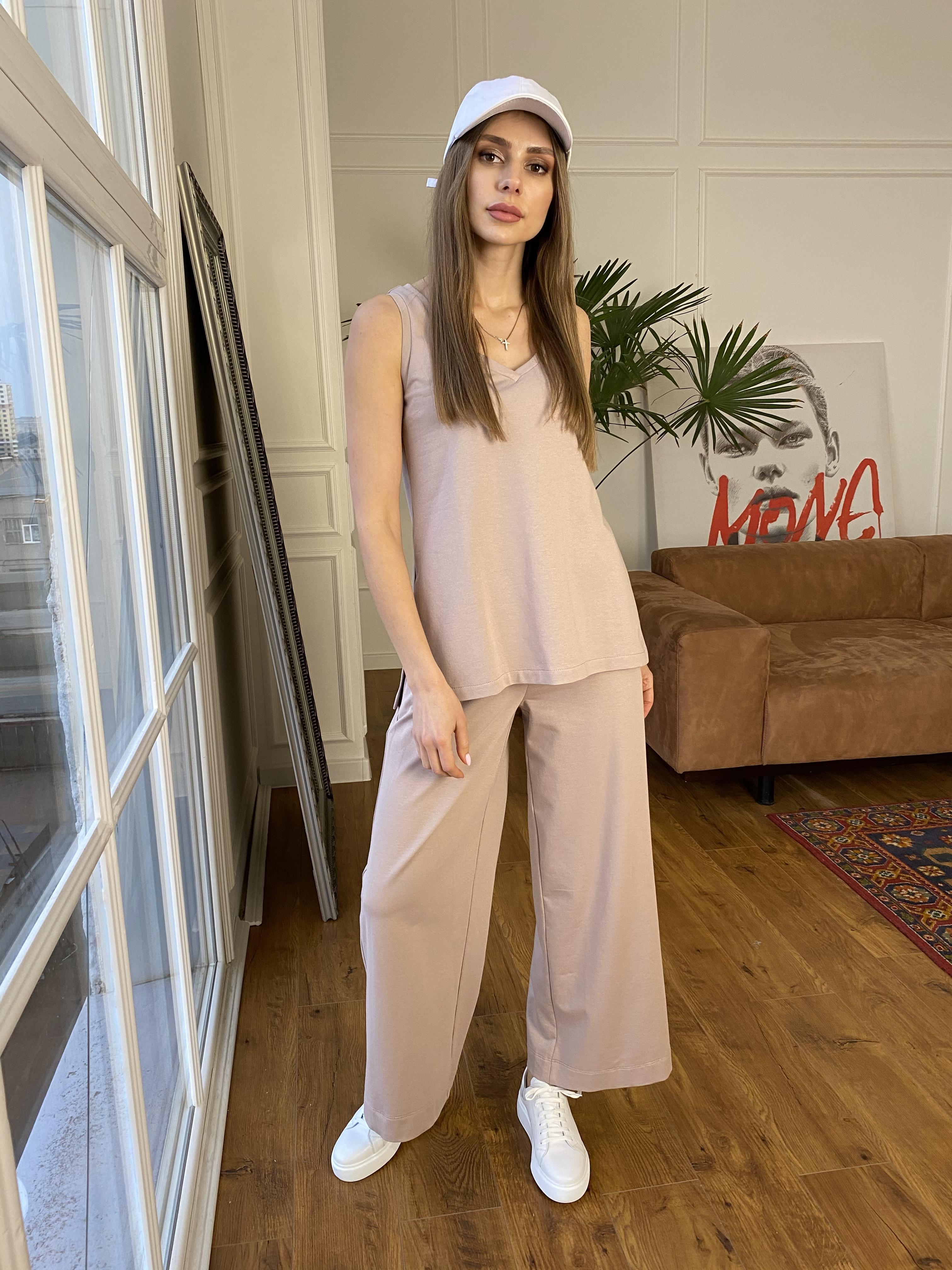 Лайм  костюм  из двунитки тонкий 9402 АРТ. 45748 Цвет: Бежевый - фото 4, интернет магазин tm-modus.ru