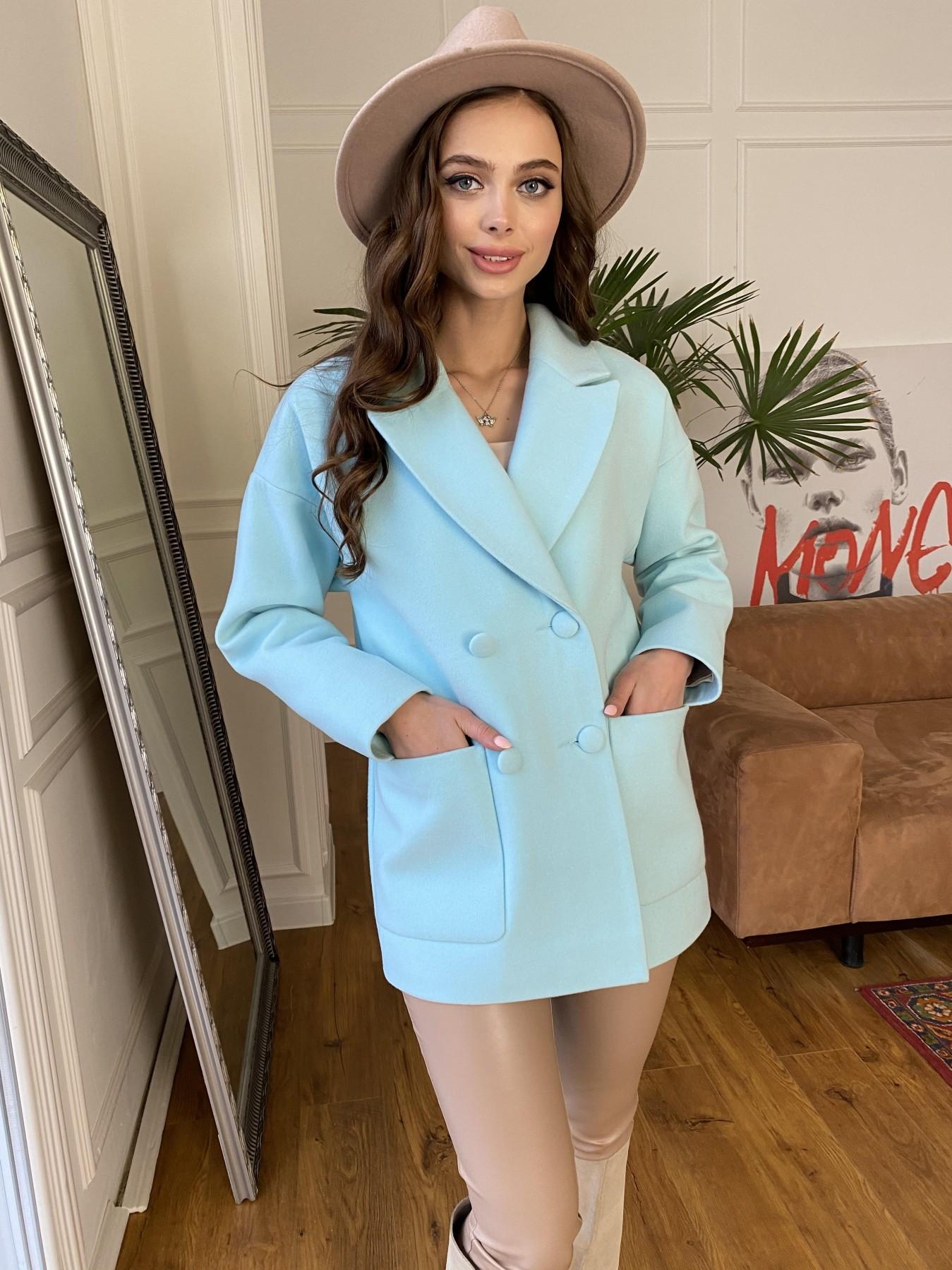 Мансера пальто  из гладкого кашемира 10898 АРТ. 47585 Цвет: Мята 6 - фото 2, интернет магазин tm-modus.ru
