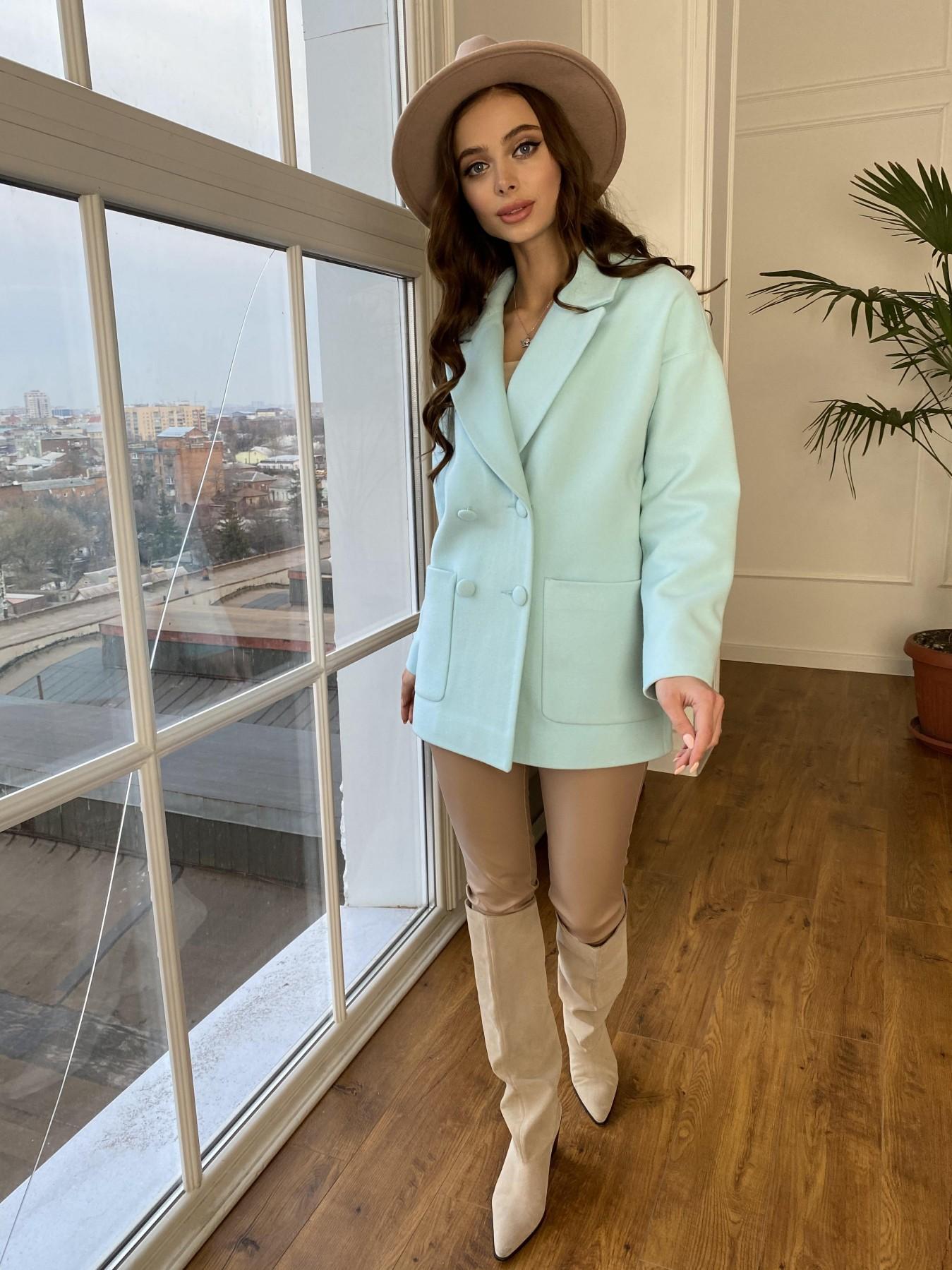 Мансера пальто  из гладкого кашемира 10898 АРТ. 47585 Цвет: Мята 6 - фото 5, интернет магазин tm-modus.ru