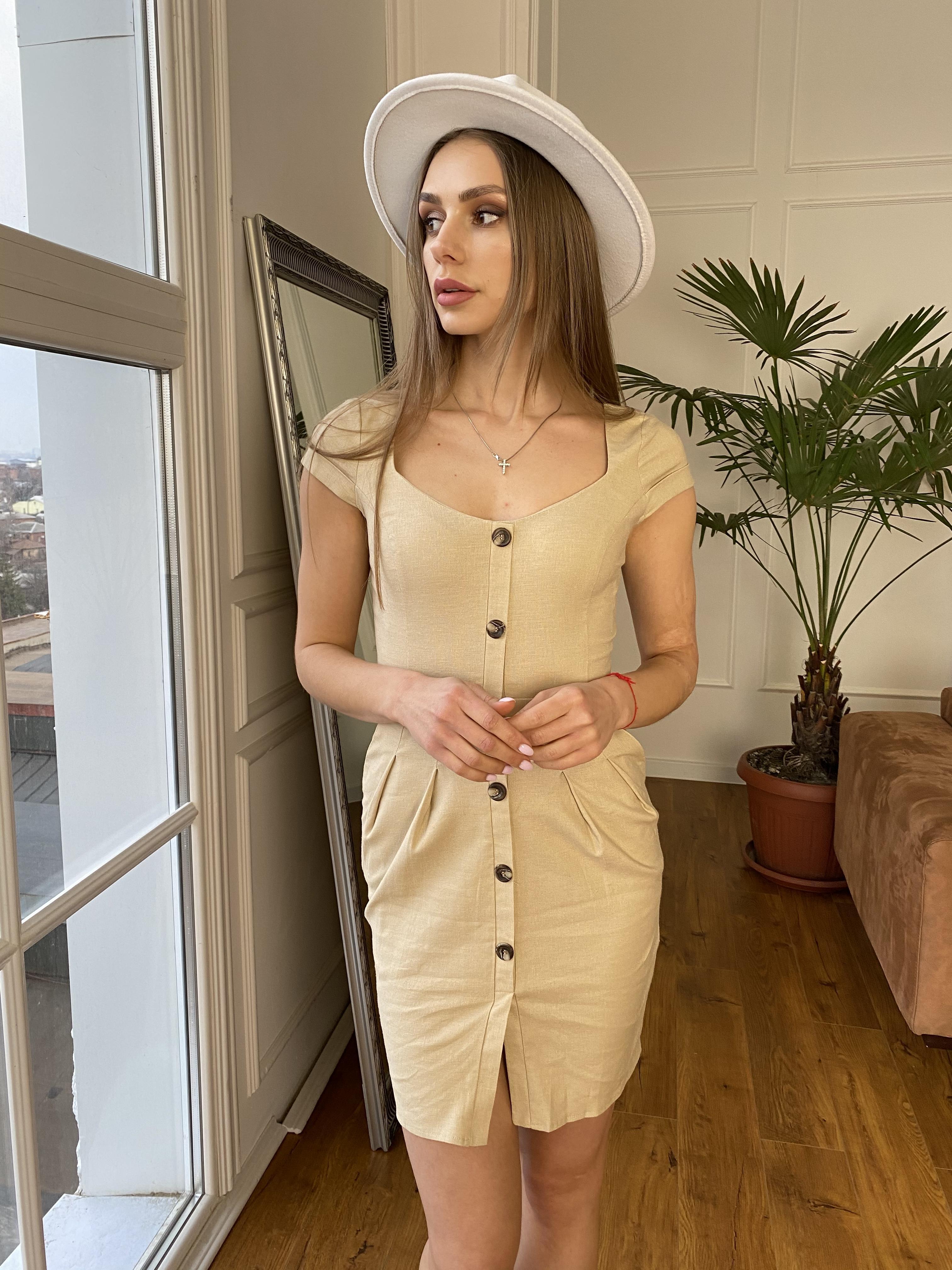 Купить платье в Харькове Марсель платье мини из льна  стрейч 9400