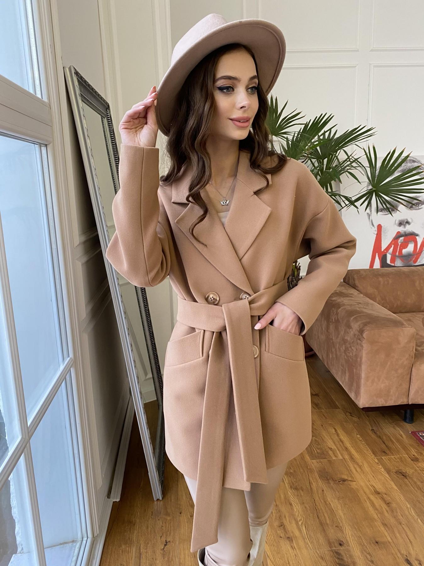 Бонд пальто из кашемира  10571 АРТ. 47437 Цвет: Кемел 8132 - фото 2, интернет магазин tm-modus.ru