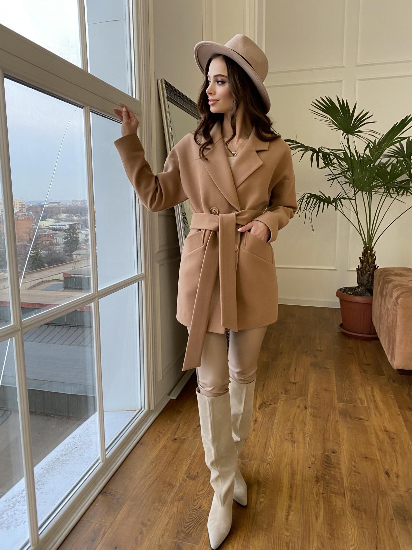 Бонд пальто из кашемира  10571 АРТ. 47437 Цвет: Кемел 8132 - фото 3, интернет магазин tm-modus.ru