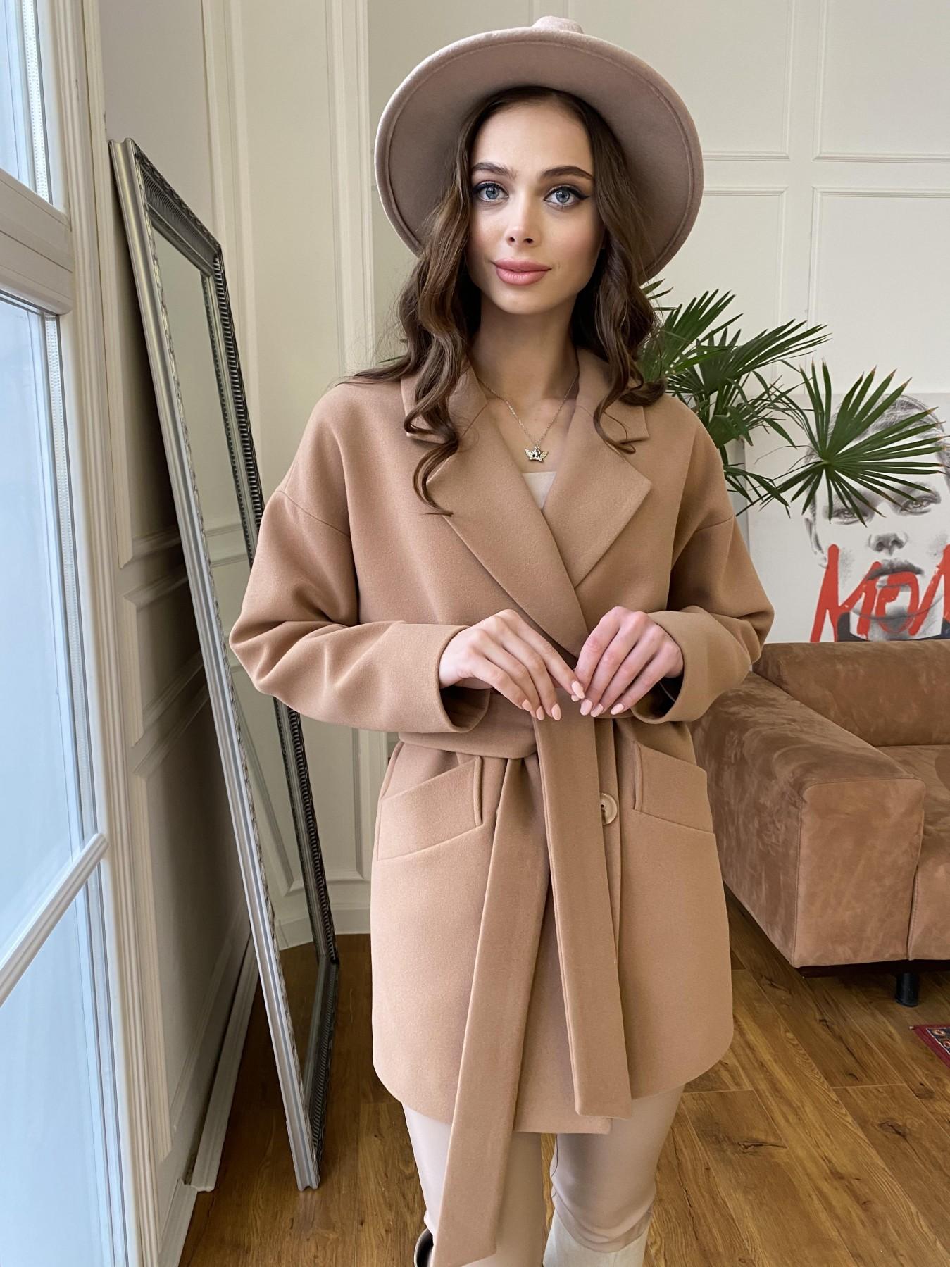 Бонд пальто из кашемира  10571 АРТ. 47437 Цвет: Кемел 8132 - фото 4, интернет магазин tm-modus.ru