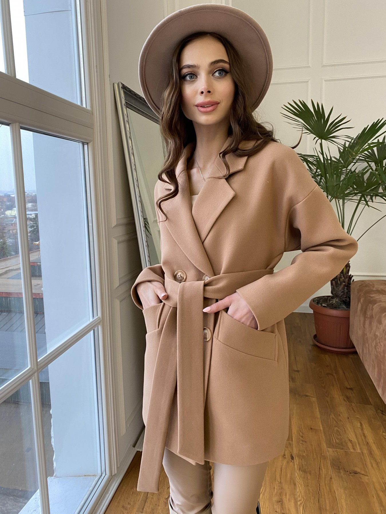 Бонд пальто из кашемира  10571 АРТ. 47437 Цвет: Кемел 8132 - фото 5, интернет магазин tm-modus.ru