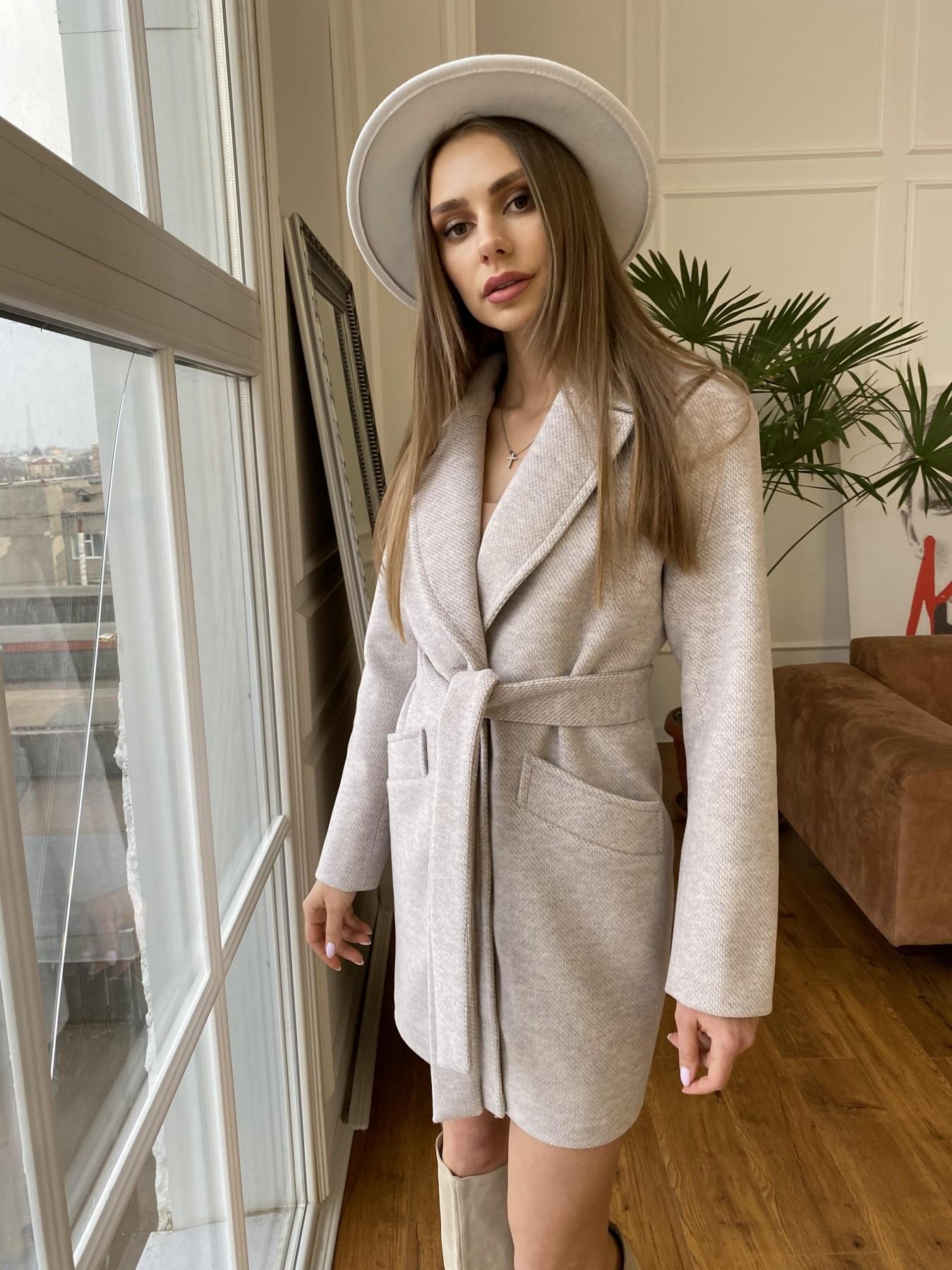 Вейсона флеш пальто из пальтовой ткани 10751 АРТ. 47555 Цвет: Бежевый 29 - фото 4, интернет магазин tm-modus.ru