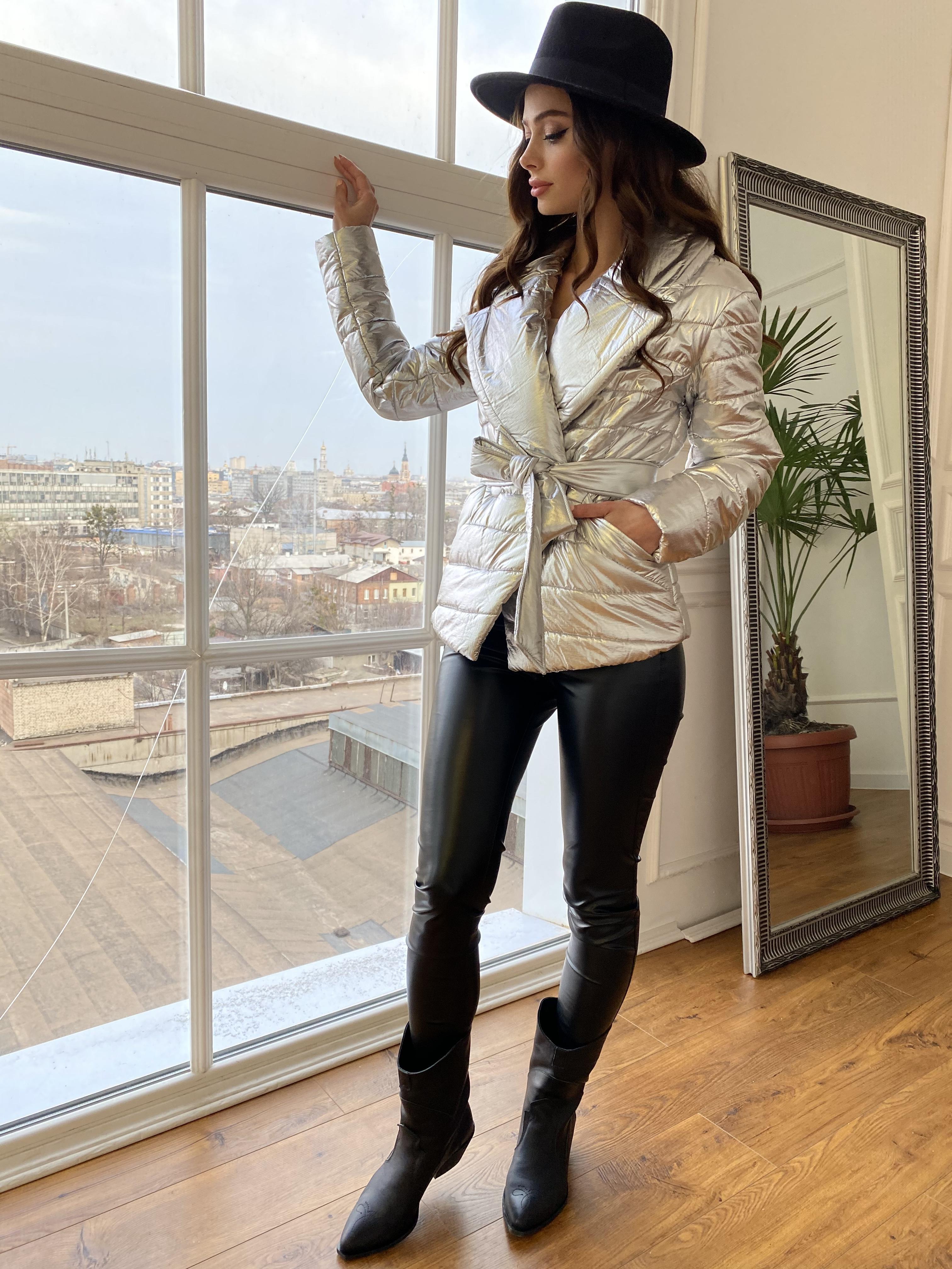 Мириам  4562 куртка горизонтальная стежка  Цвет: Серебро