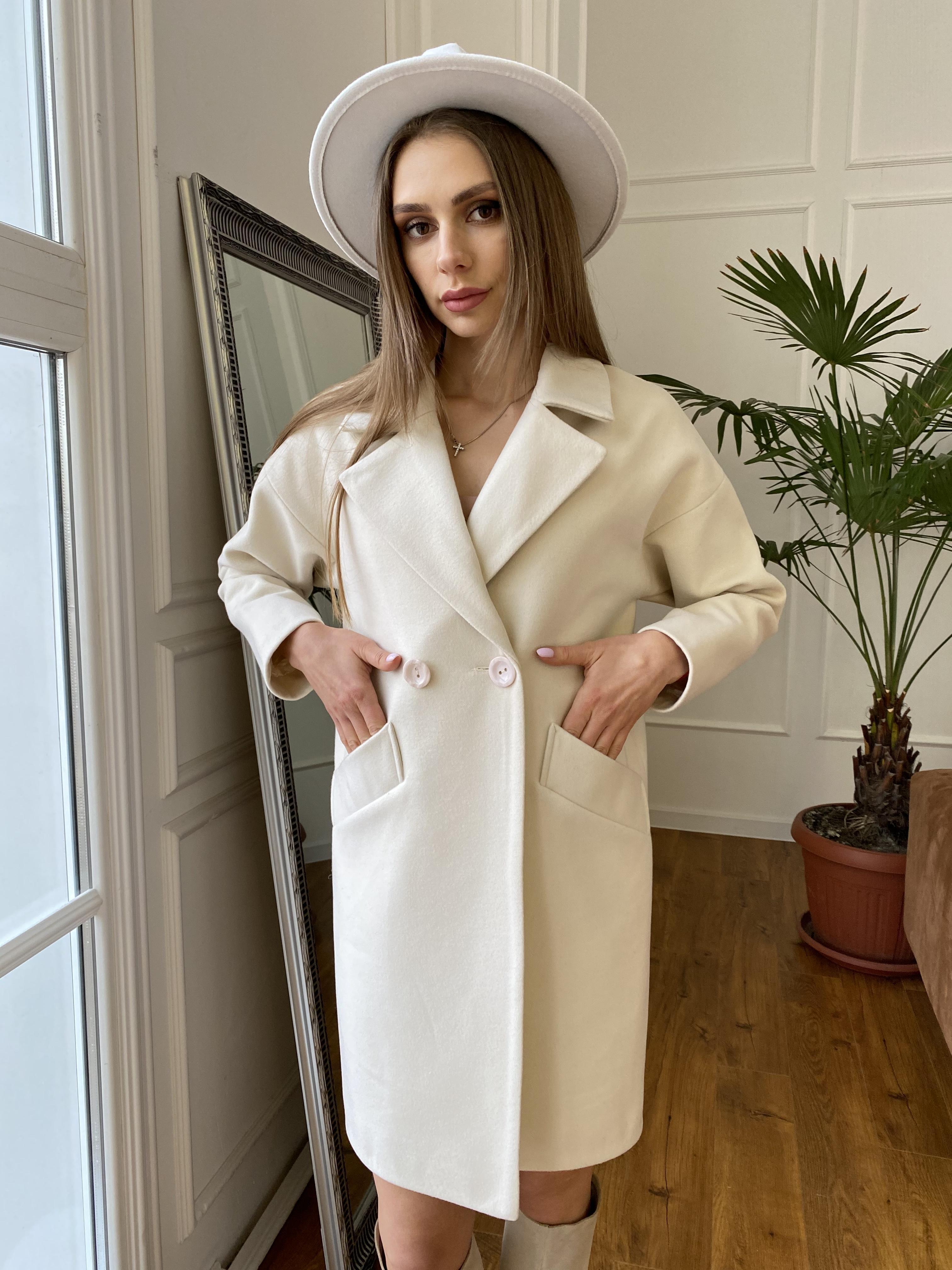 Сенсей пальто  из гладкого кашемира 10774 АРТ. 47203 Цвет: Молоко - фото 3, интернет магазин tm-modus.ru