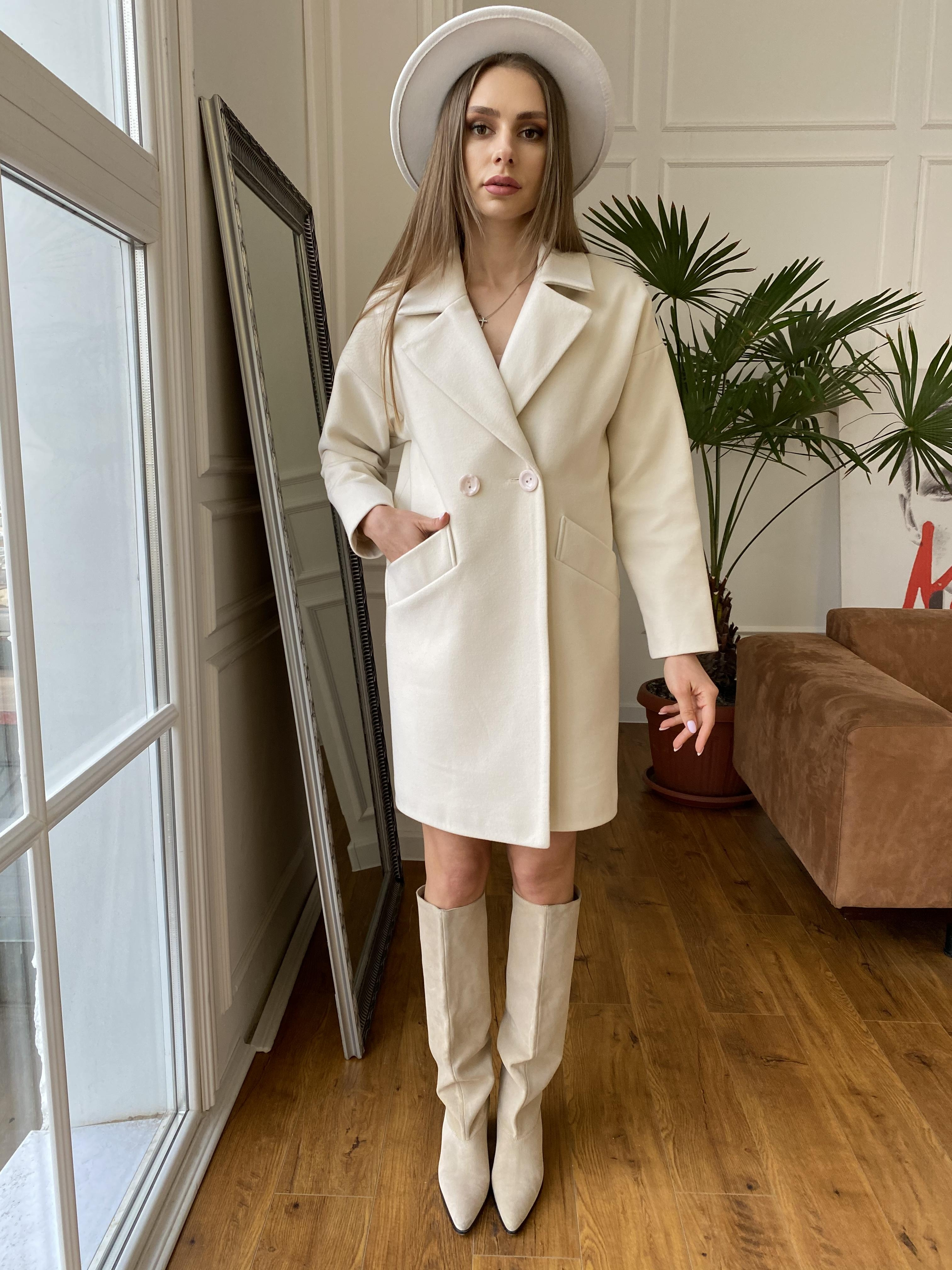 Сенсей пальто  из гладкого кашемира 10774 АРТ. 47203 Цвет: Молоко - фото 6, интернет магазин tm-modus.ru