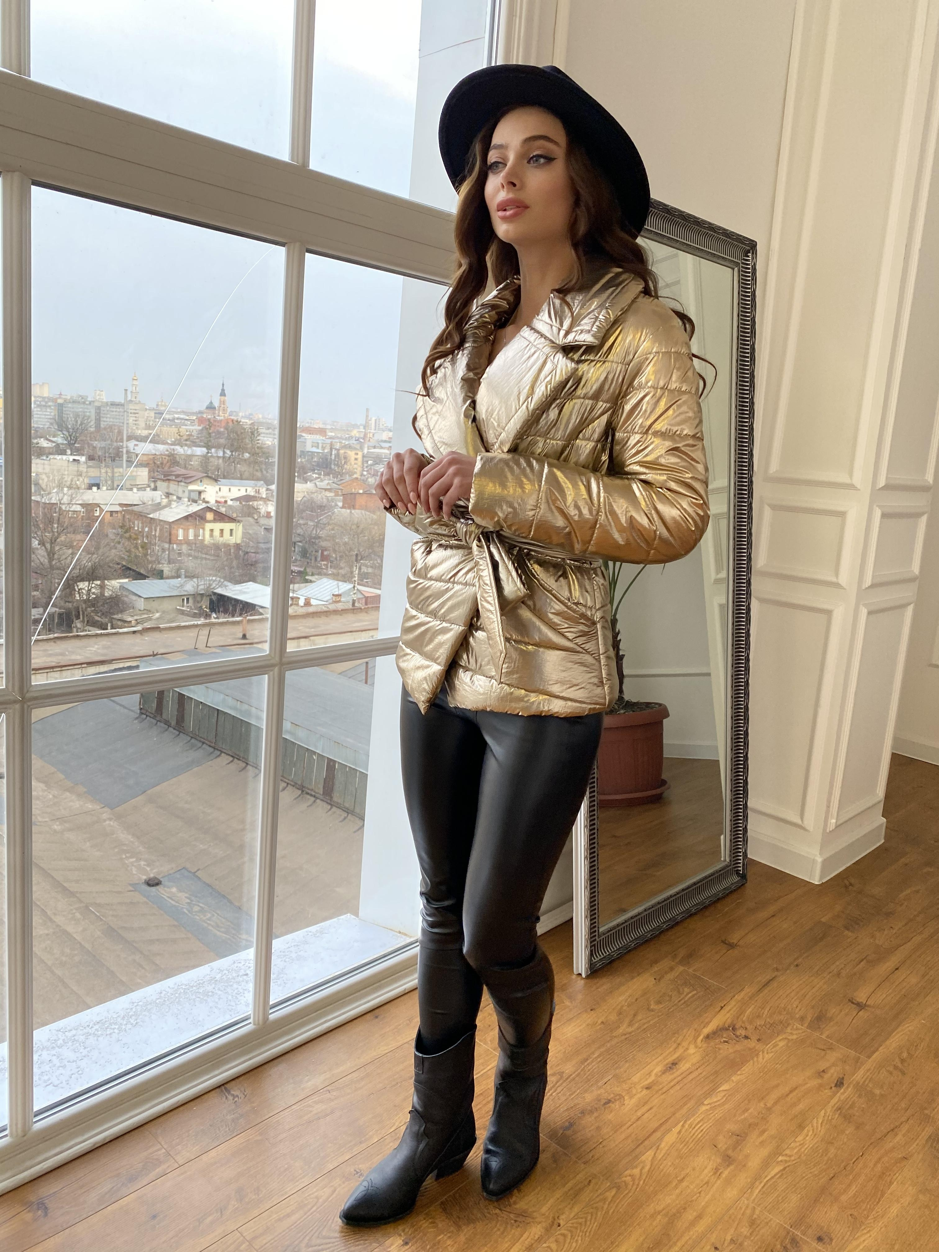 Мириам  4562 куртка горизонтальная стежка  АРТ. 21645 Цвет: Золото - фото 2, интернет магазин tm-modus.ru