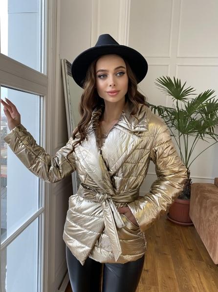 Мириам  4562 куртка горизонтальная стежка  Цвет: Золото