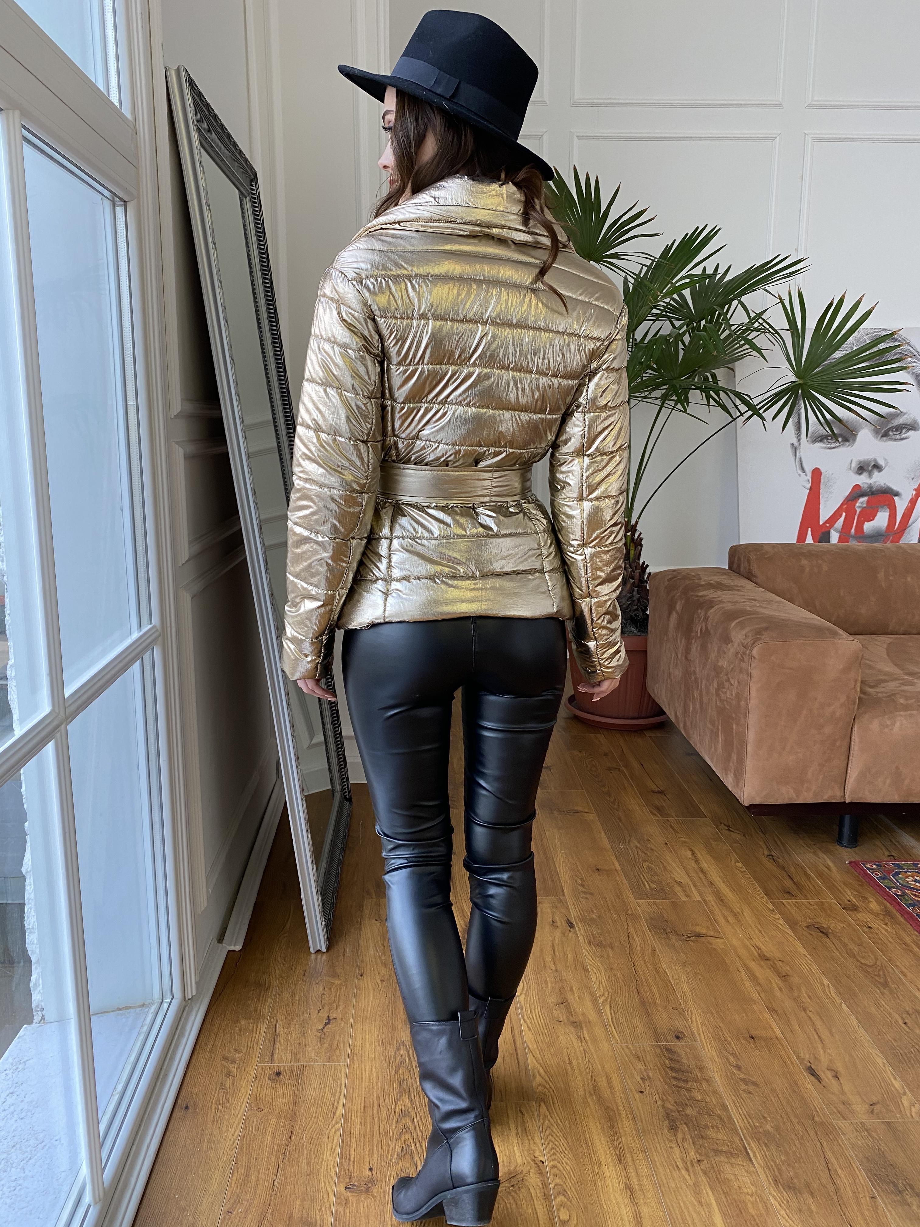 Мириам  4562 куртка горизонтальная стежка  АРТ. 21645 Цвет: Золото - фото 6, интернет магазин tm-modus.ru