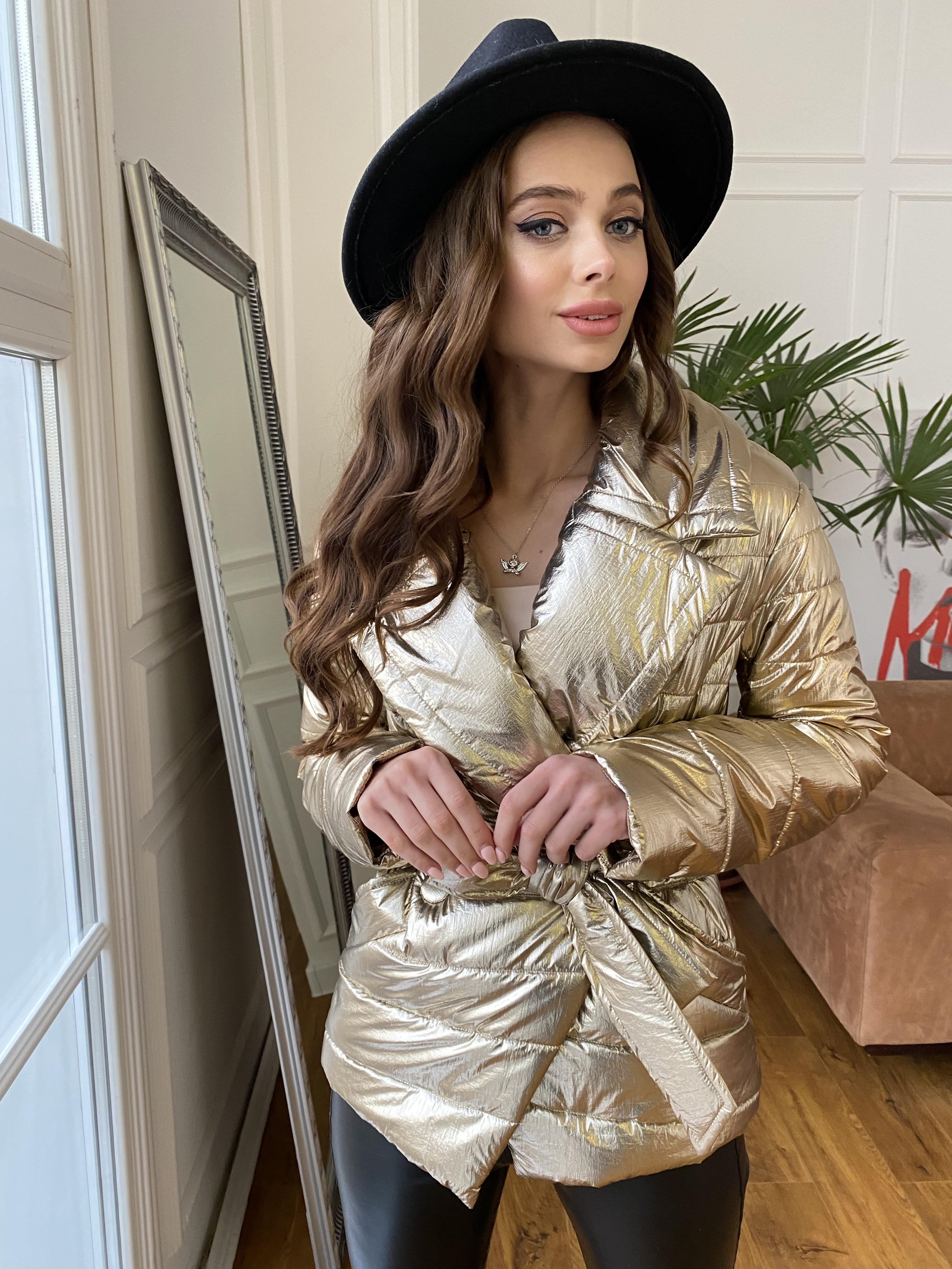 Мириам  4562 куртка горизонтальная стежка  АРТ. 21645 Цвет: Золото - фото 7, интернет магазин tm-modus.ru