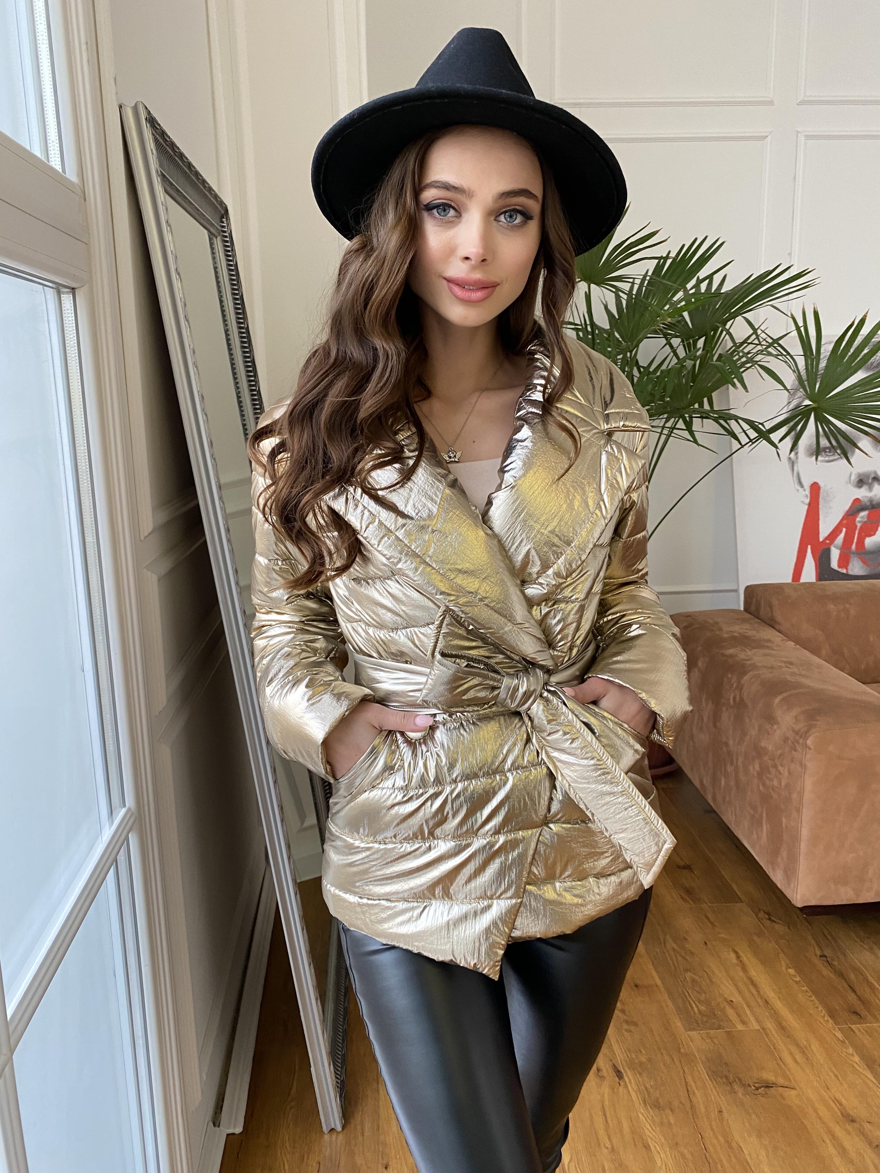 Мириам  4562 куртка горизонтальная стежка  АРТ. 21645 Цвет: Золото - фото 8, интернет магазин tm-modus.ru