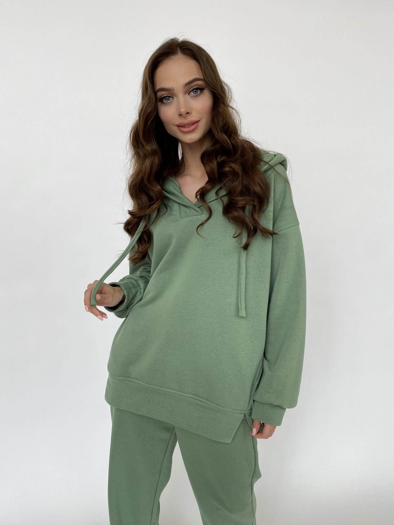 Ярис костюм из 3х нитки 10789 АРТ. 47617 Цвет: Олива Темная - фото 3, интернет магазин tm-modus.ru