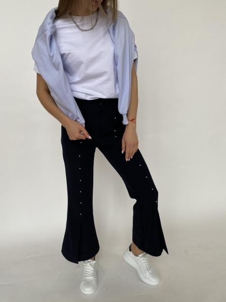 """Купить """"Сеймур """" брюки укороченные из костюмной ткани 3288 оптом и в розницу"""