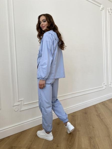 Фит костюм из плащевой ткани Ammy 11051 Цвет: Голубой 1021
