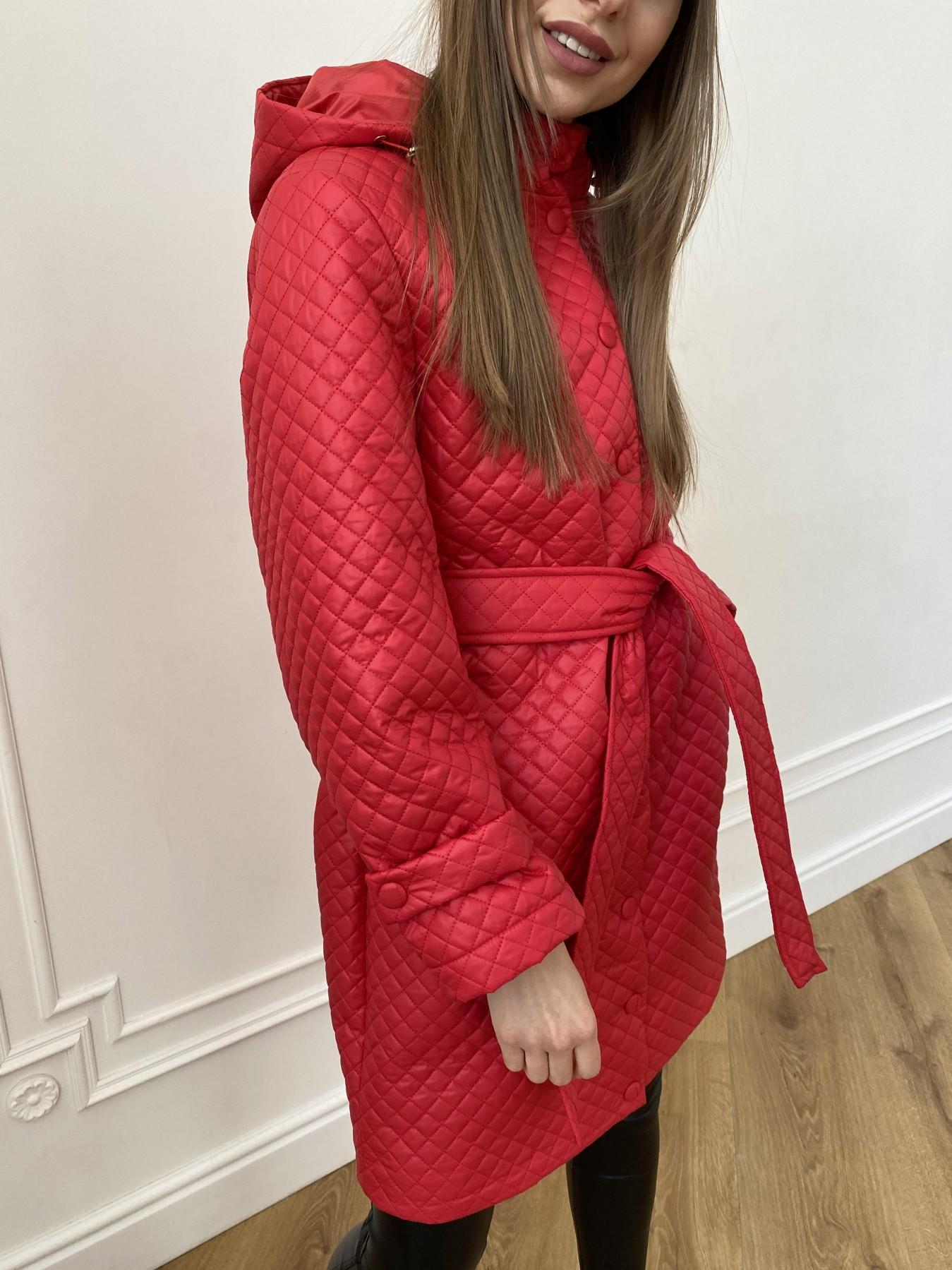 Виза стеганая куртка в мелкую стежку из плащевой ткани 11017 АРТ. 47626 Цвет: Красный - фото 3, интернет магазин tm-modus.ru