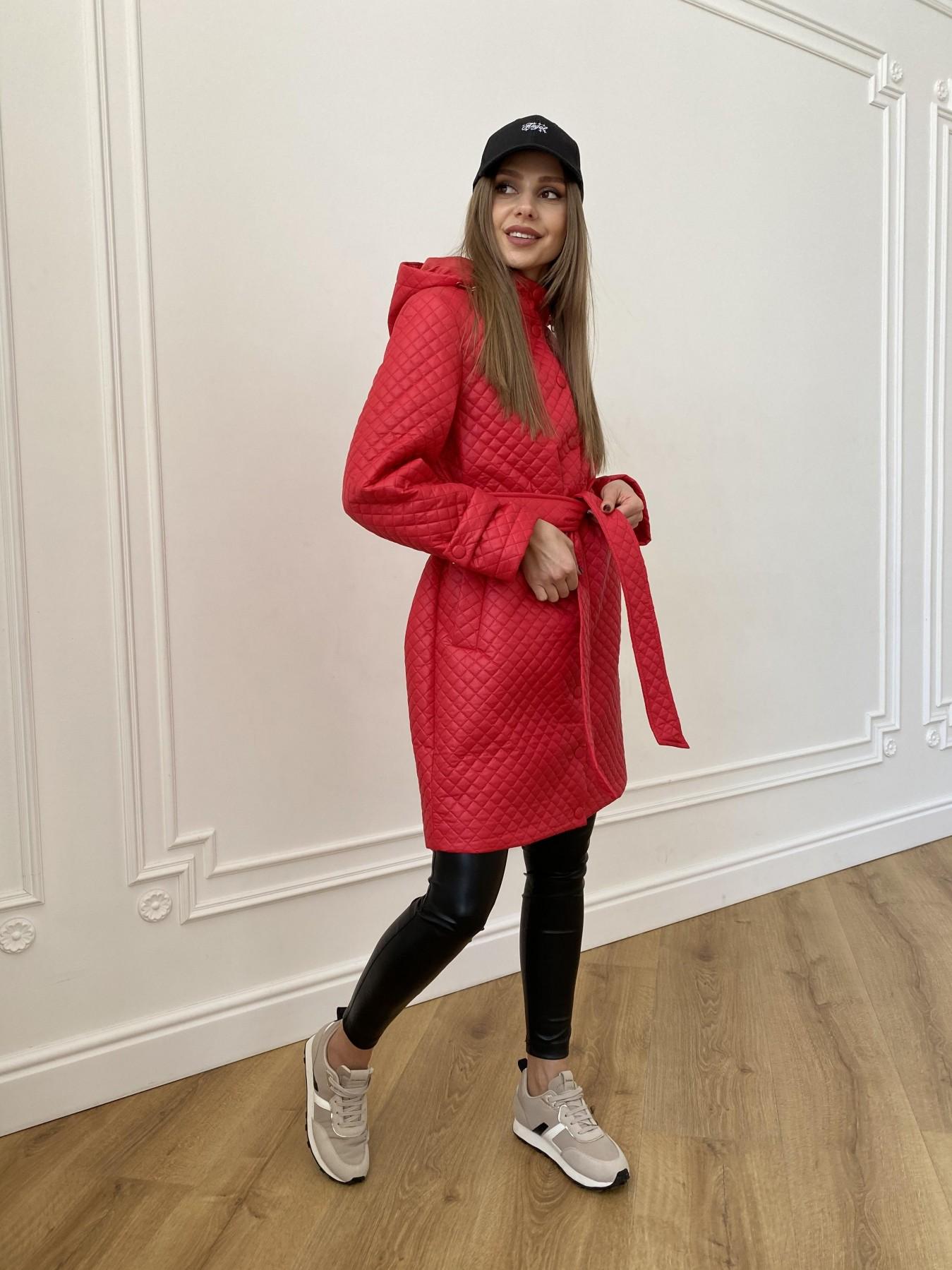 куртка пуховик женская Виза стеганая куртка в мелкую стежку из плащевой ткани 11017