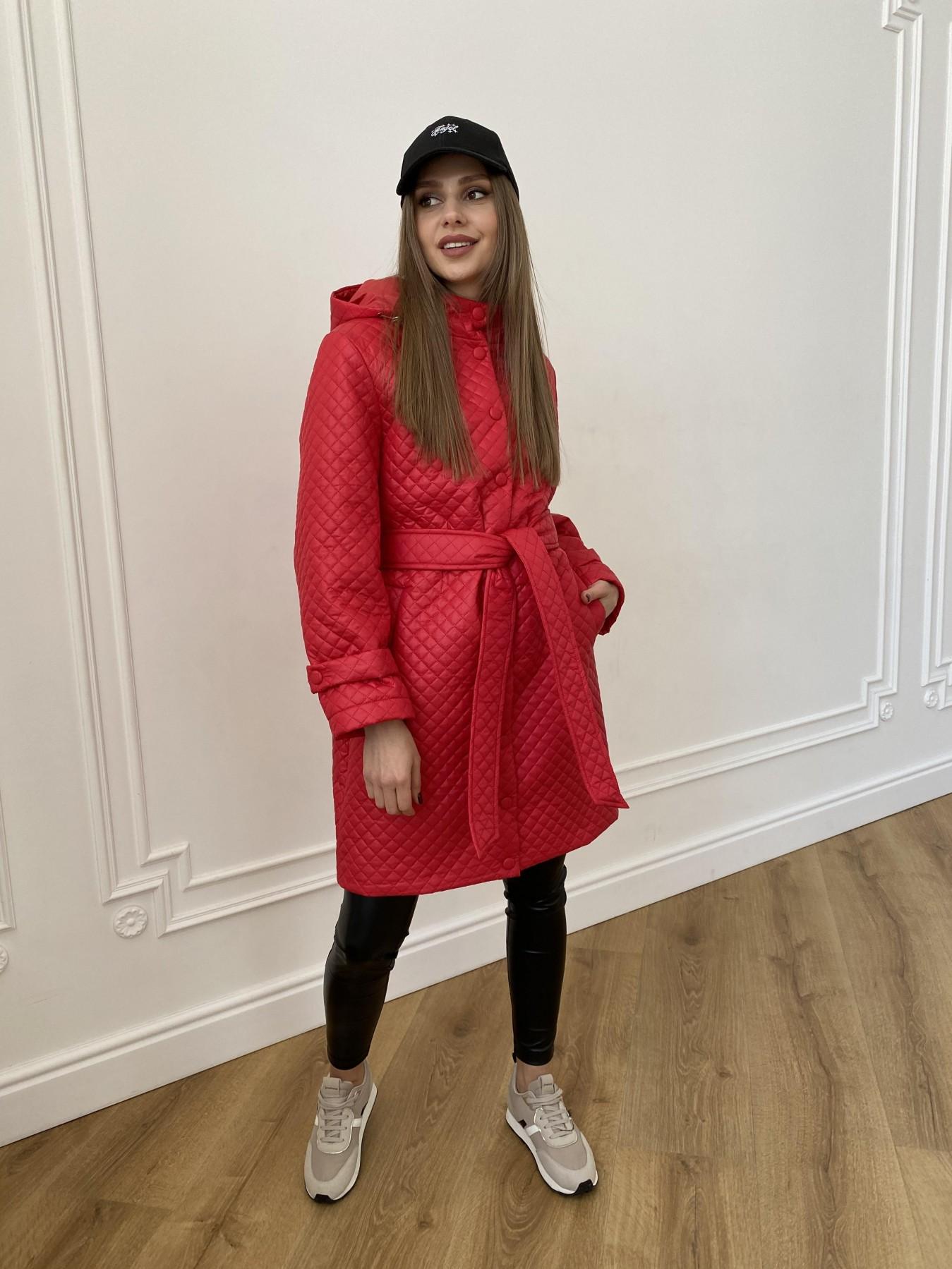 Виза стеганая куртка в мелкую стежку из плащевой ткани 11017 АРТ. 47626 Цвет: Красный - фото 5, интернет магазин tm-modus.ru